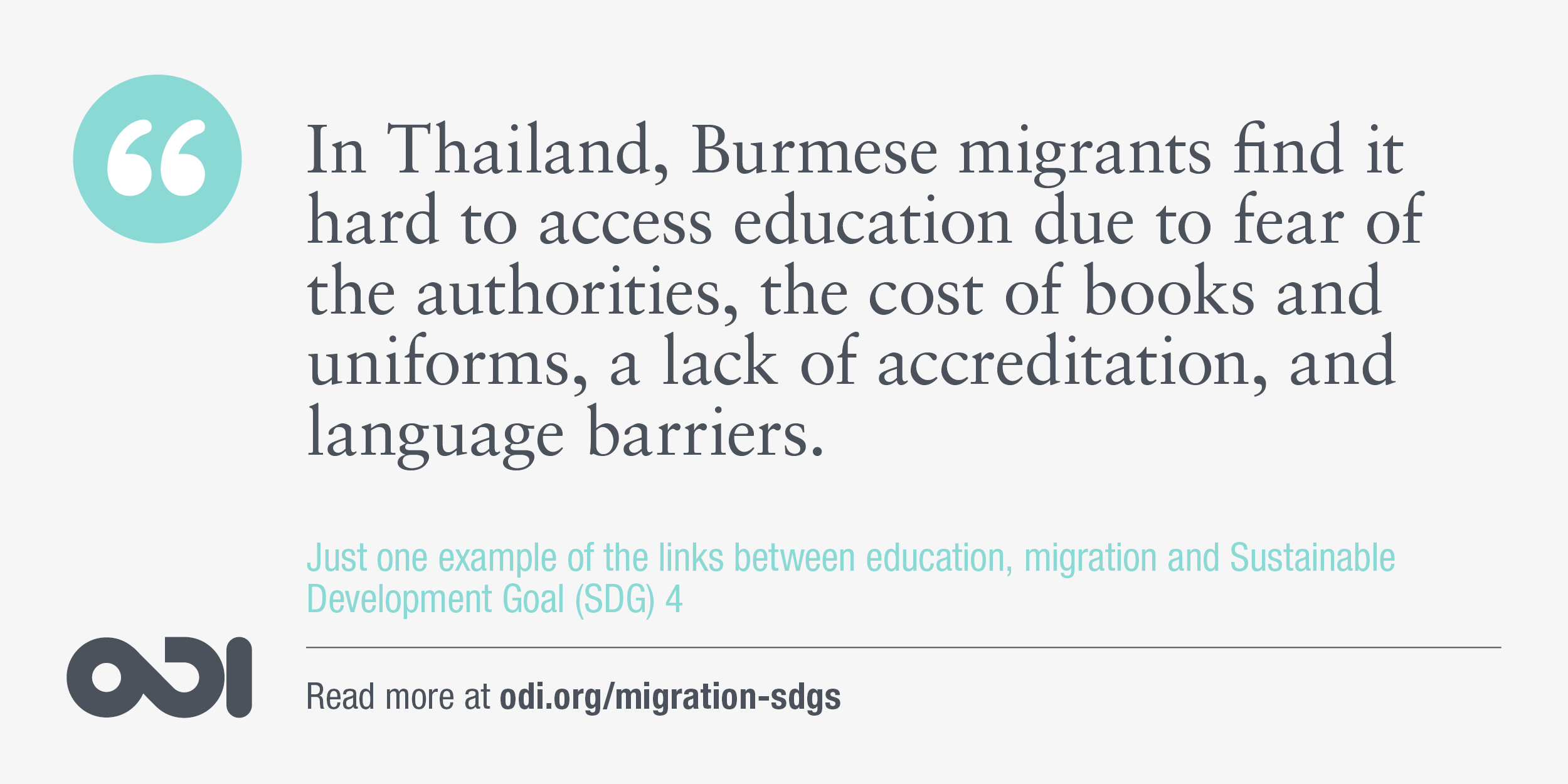 The links between education, migration and SDG 4.