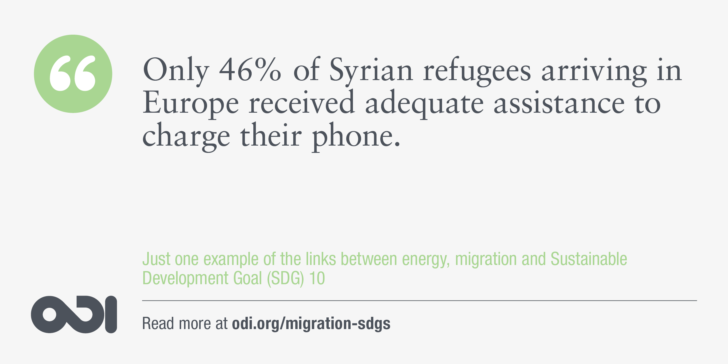The links between energy, migration and SDG 10.