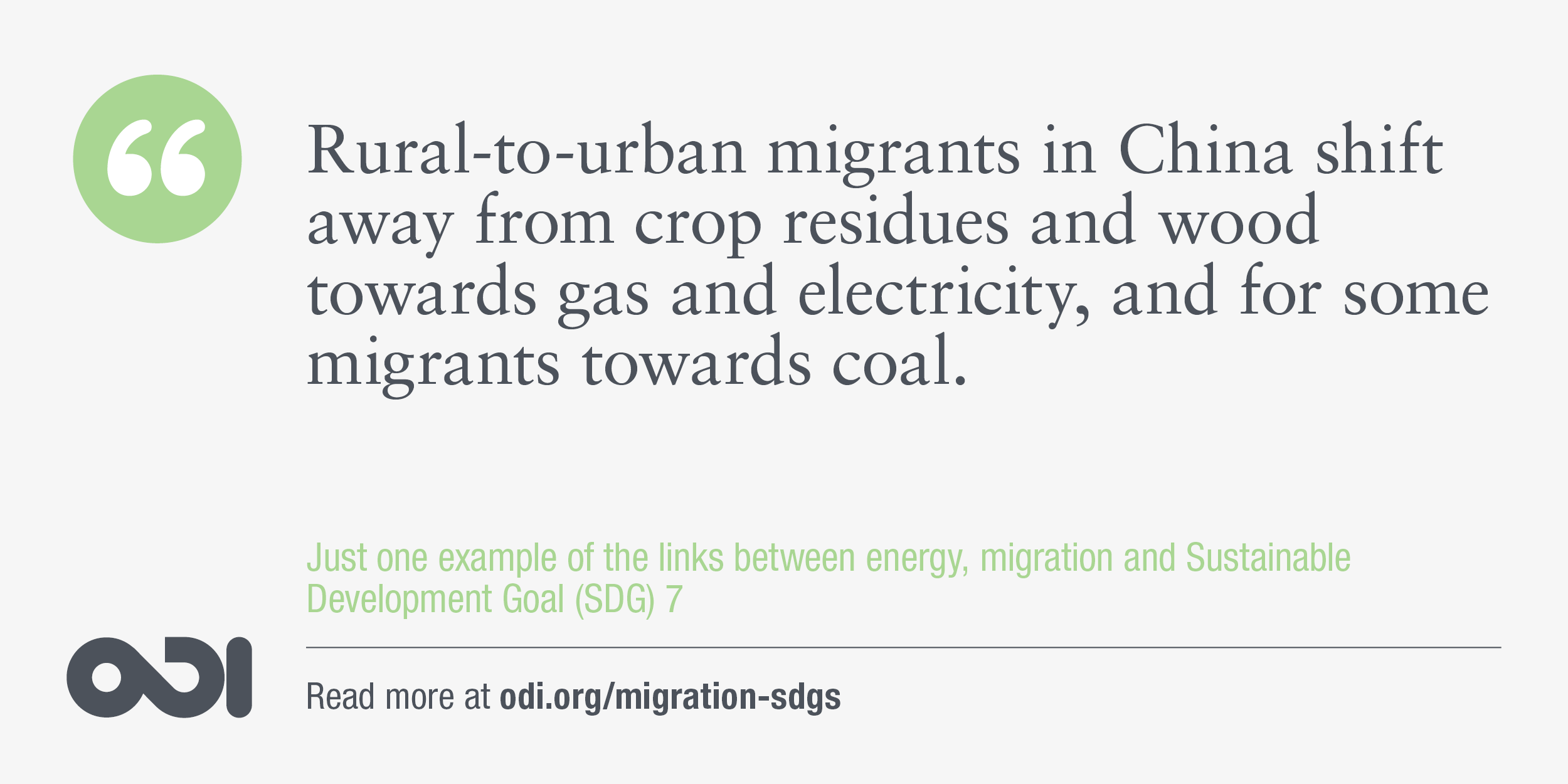 The links between energy, migration and SDG 7.