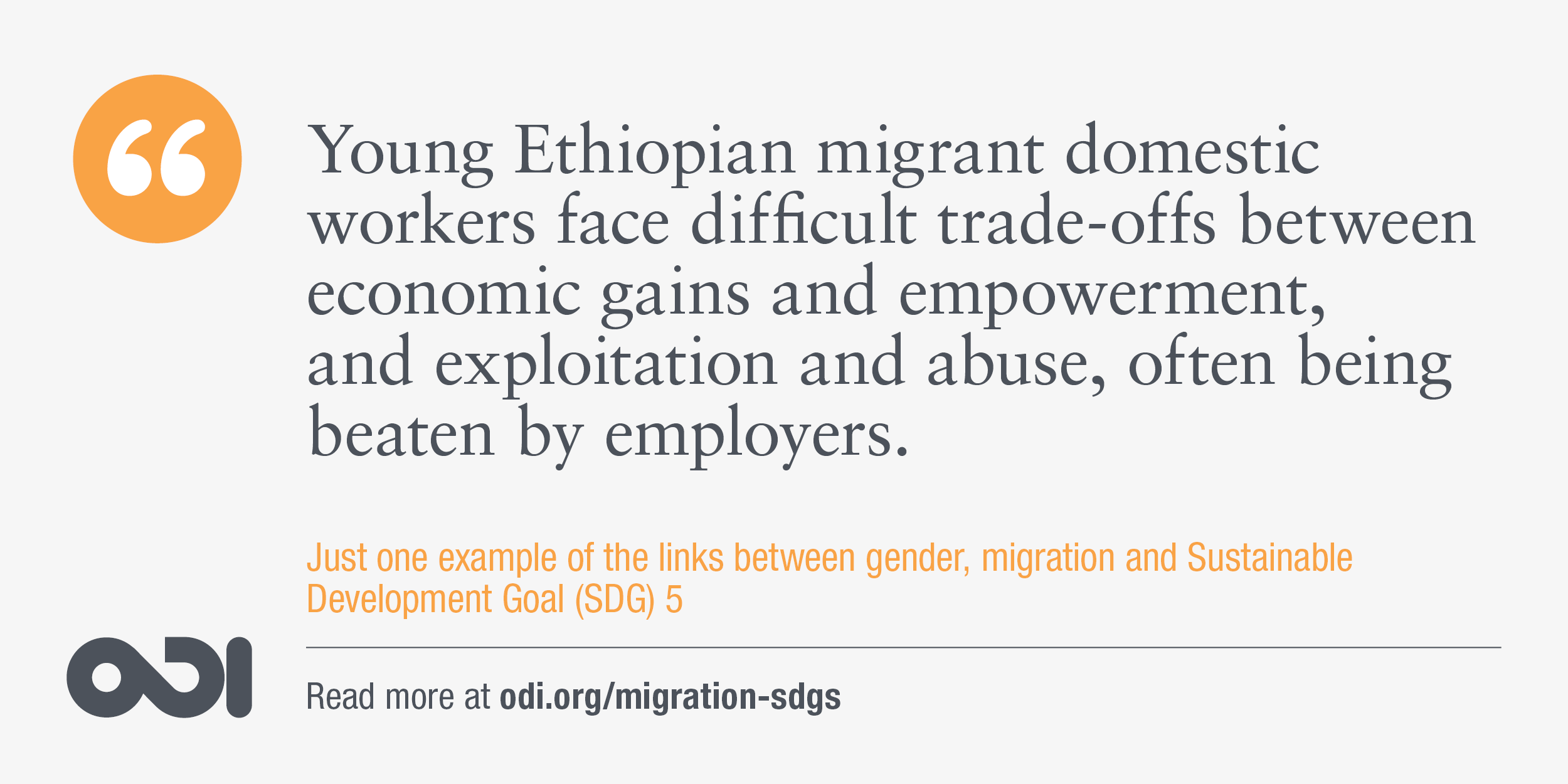 The links between gender, migration and SDG 5.