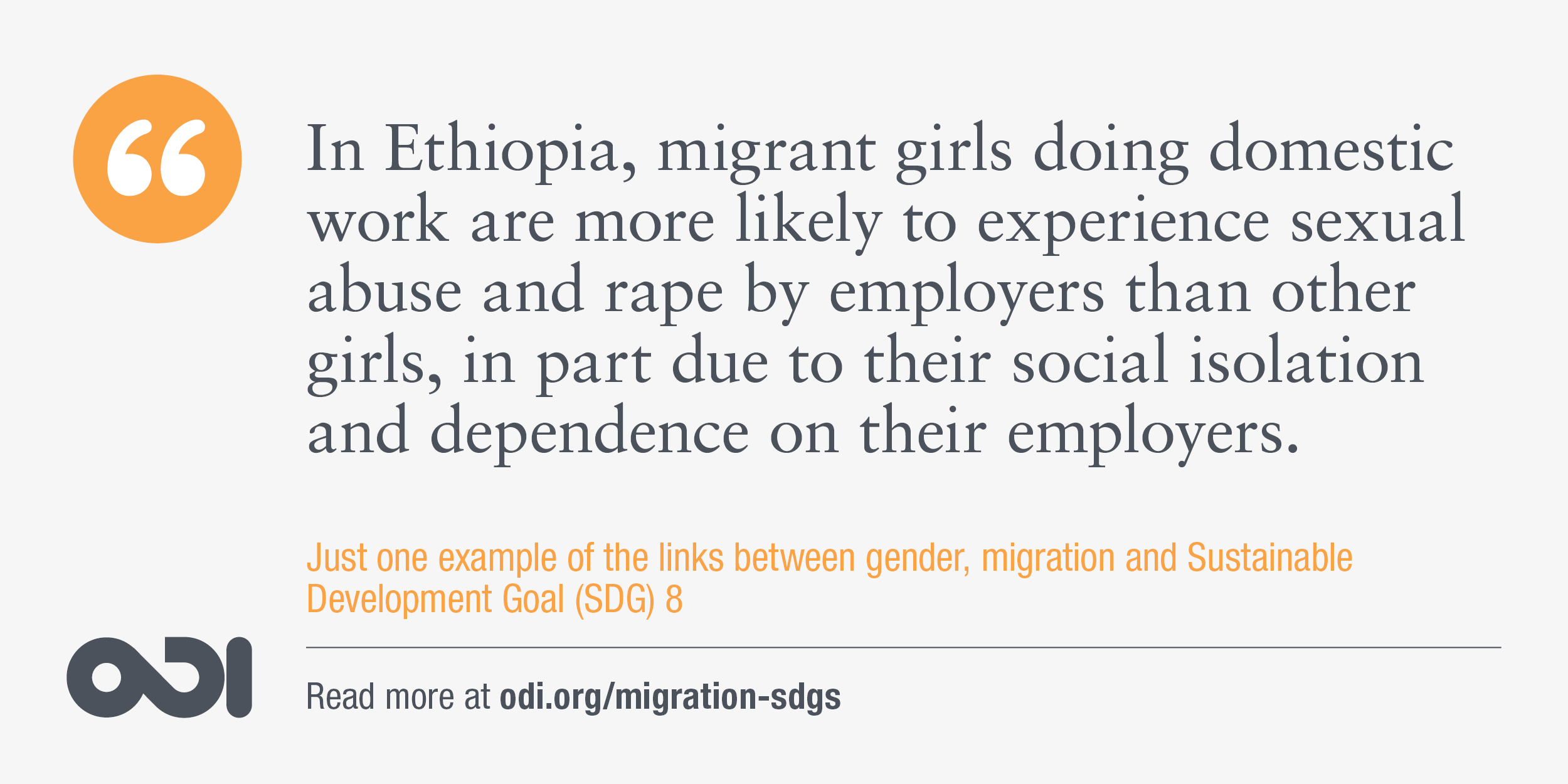 The links between gender, migration and SDG 8.