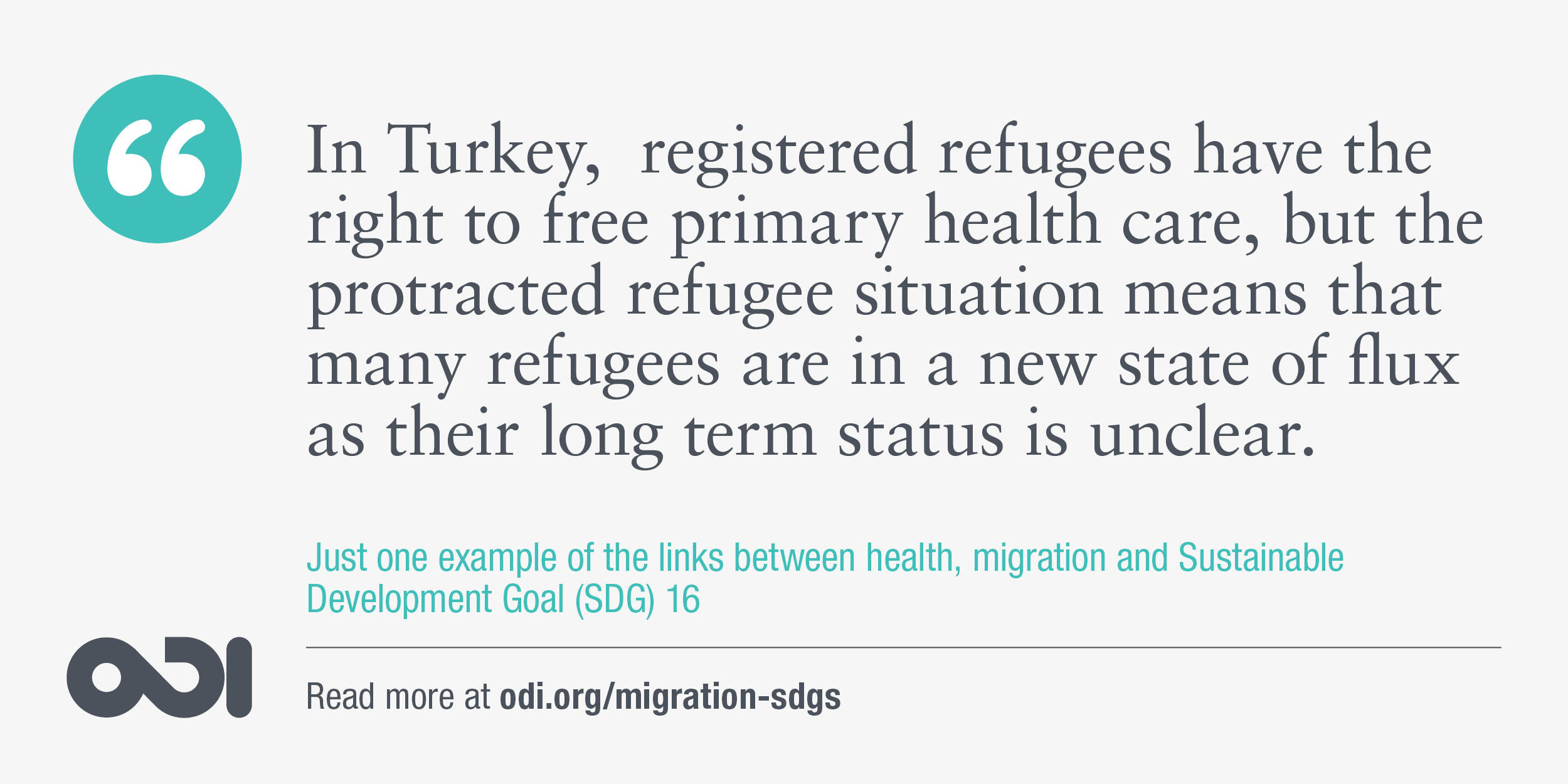 The links between health, migration and SDG 16.