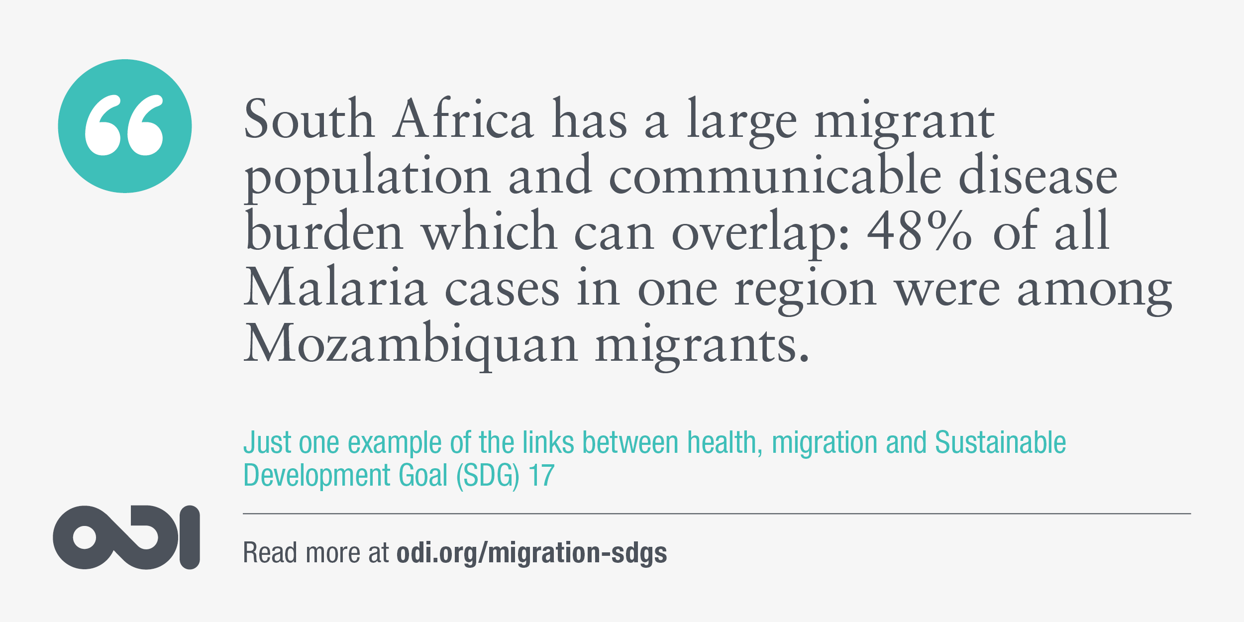 The links between health, migration and SDG 17.