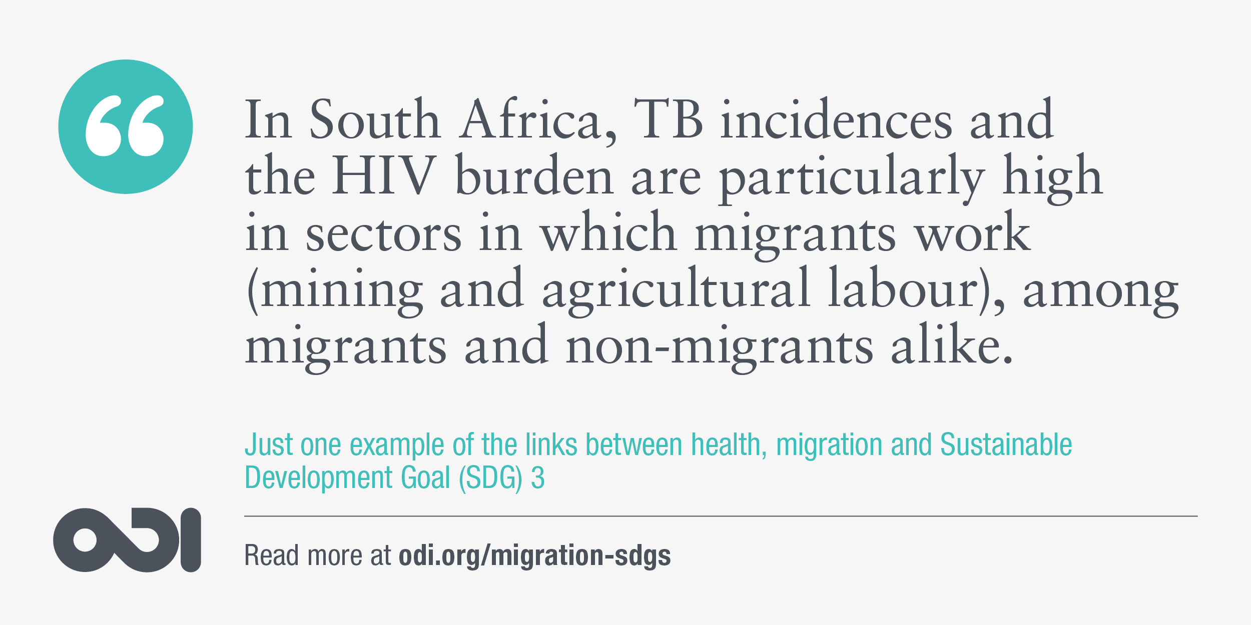 The links between health, migration and SDG 3.
