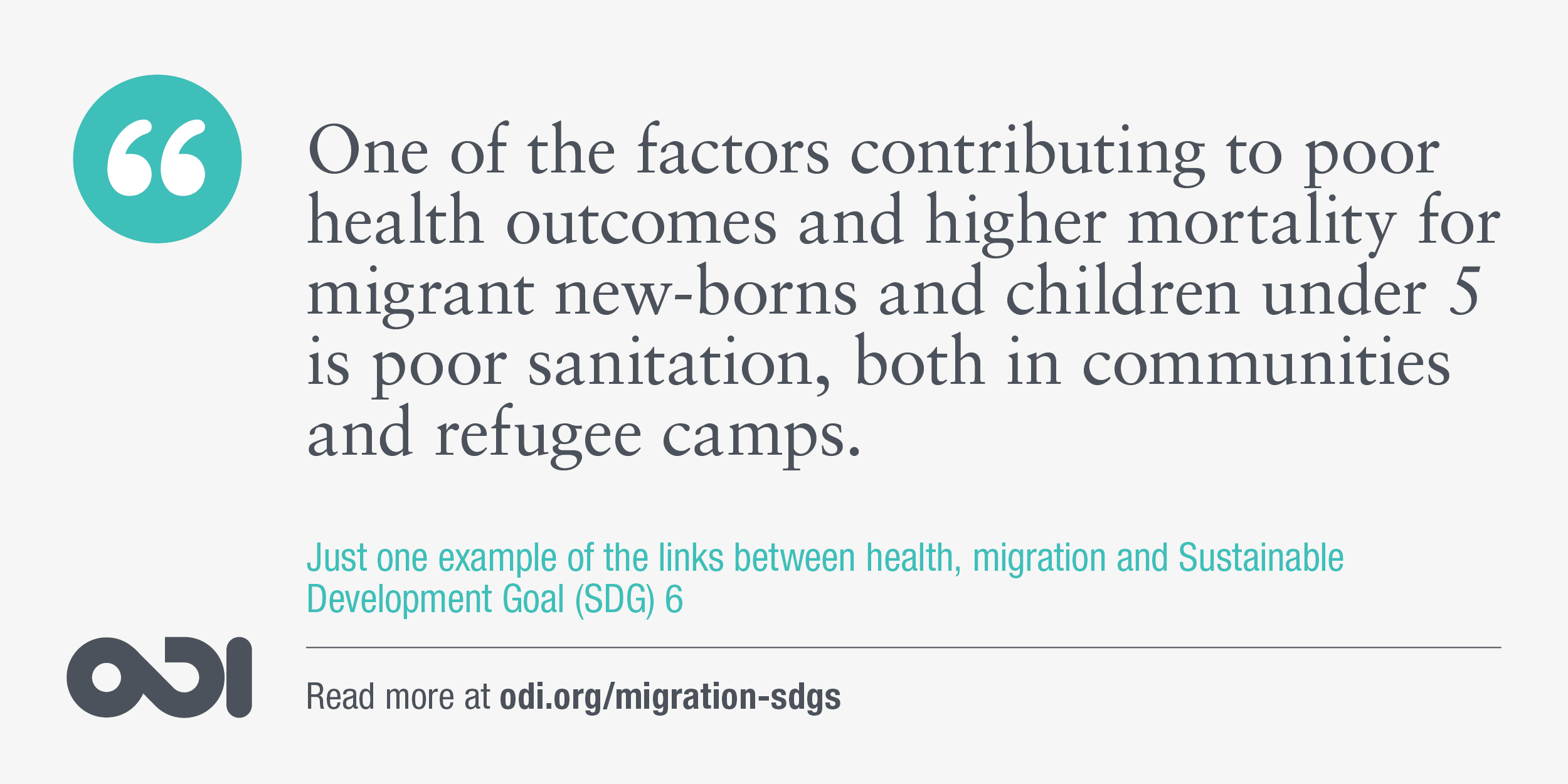 The links between health, migration and SDG 6.