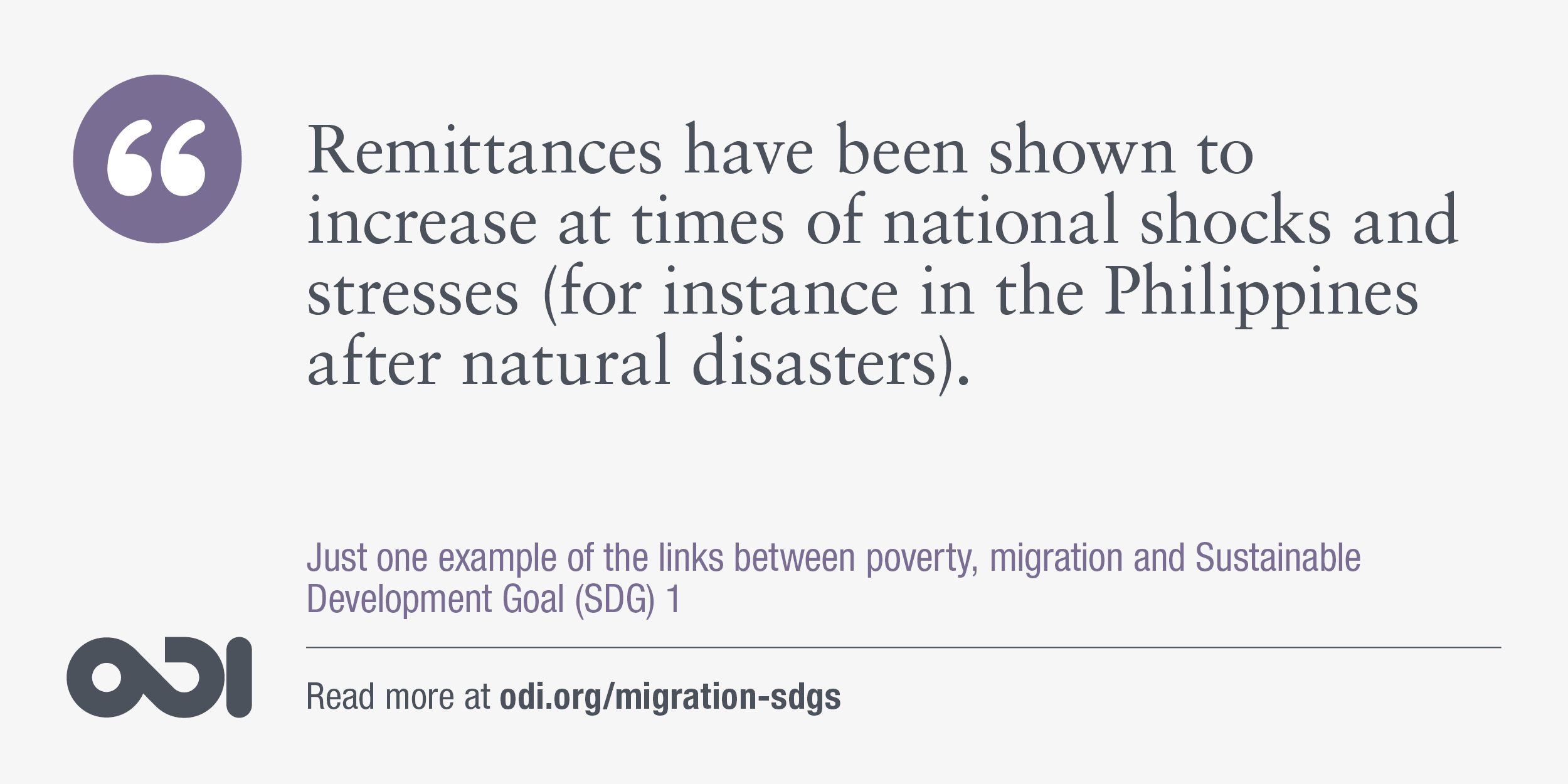 The links between poverty, migration and SDG 1.