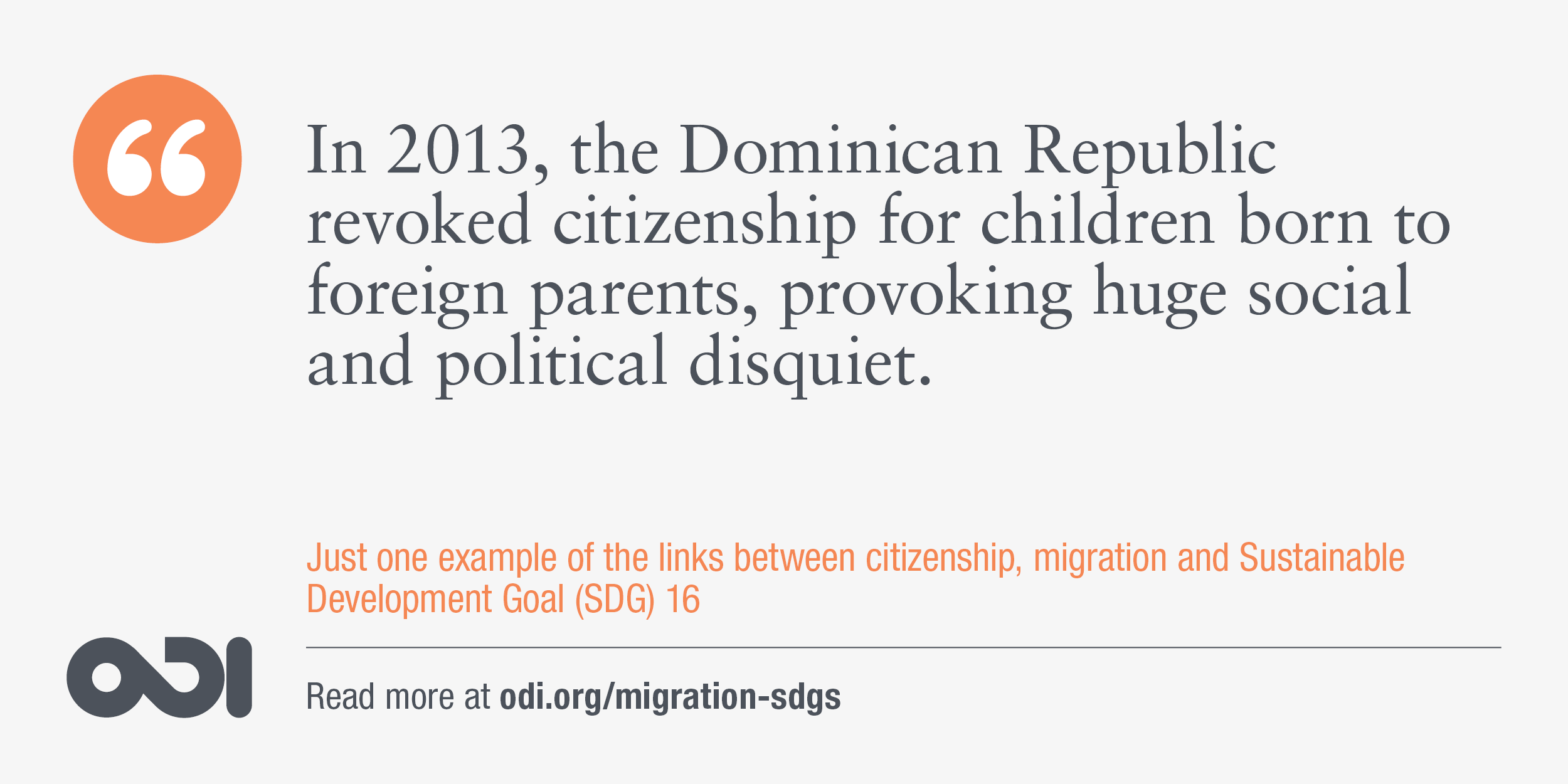 The links between citizenship, migration and SDG 16.