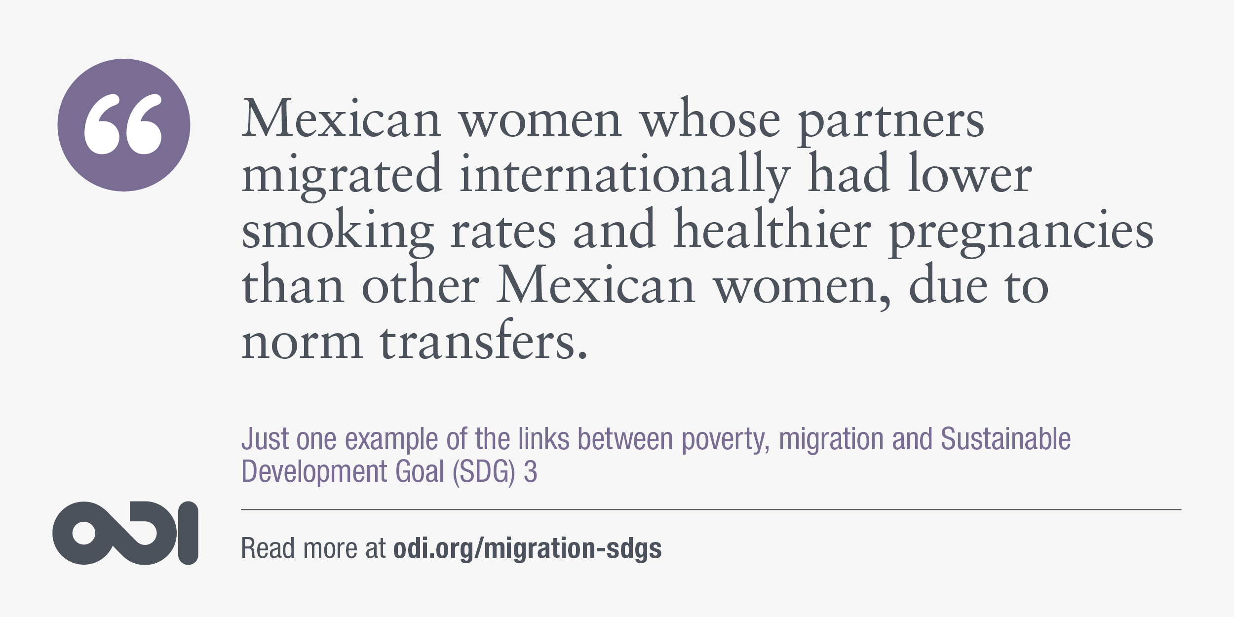 The links between poverty, migration and SDG 3.