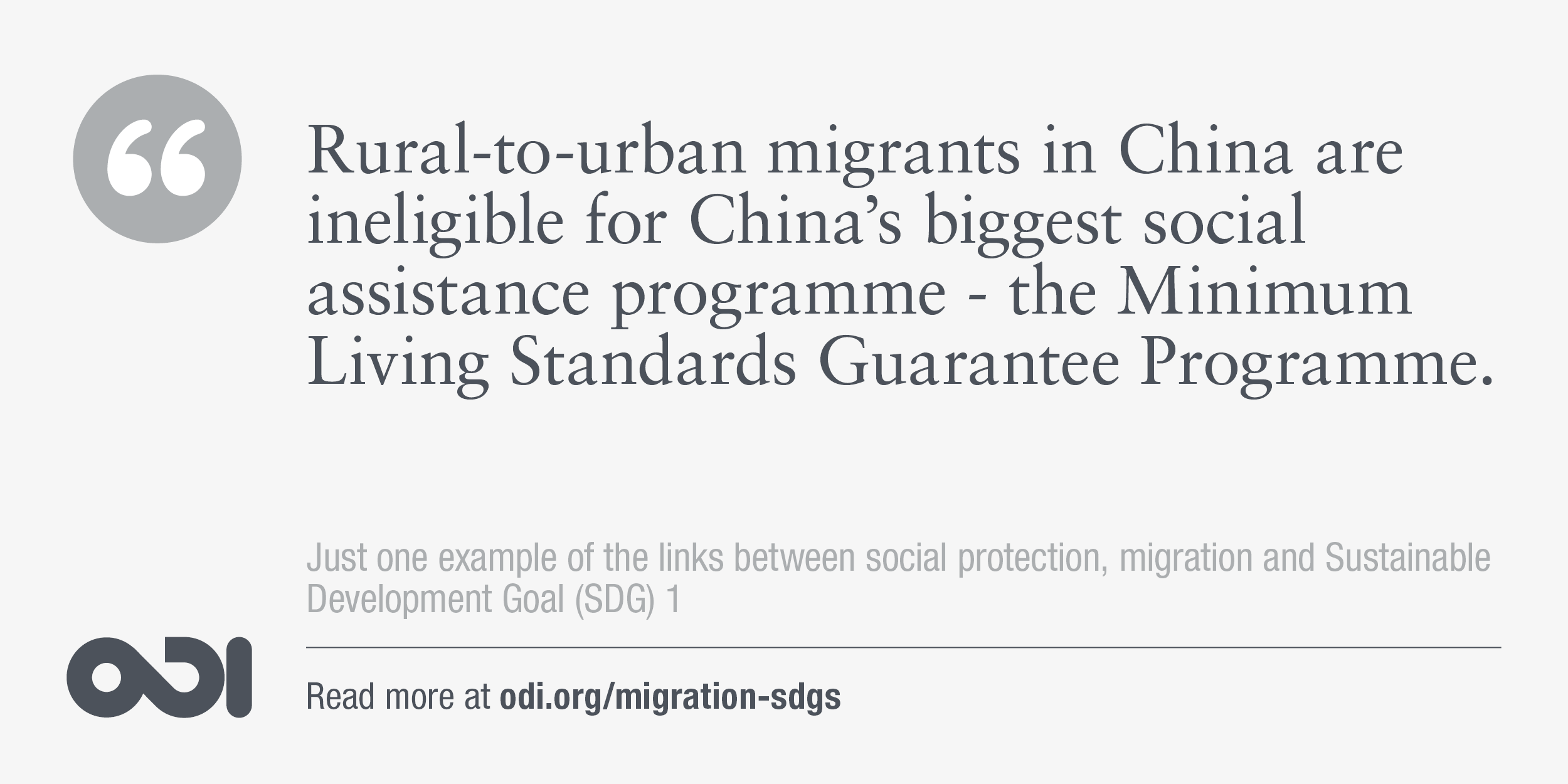 The links between social protection, migration and SDG 1.