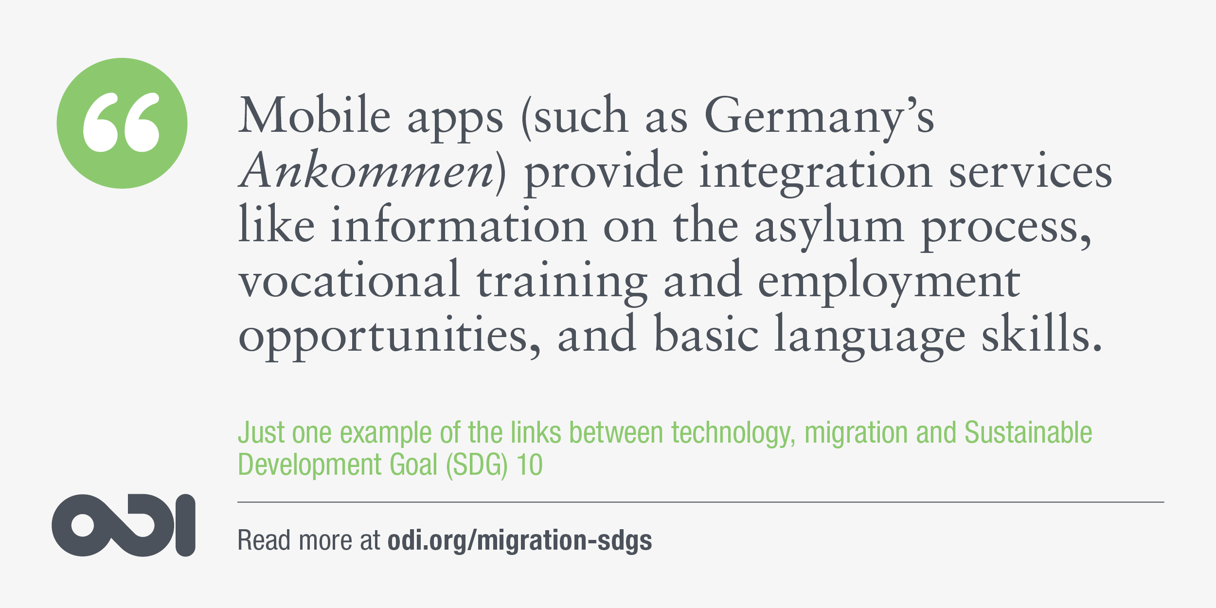 The links between technology, migration and SDG 10.