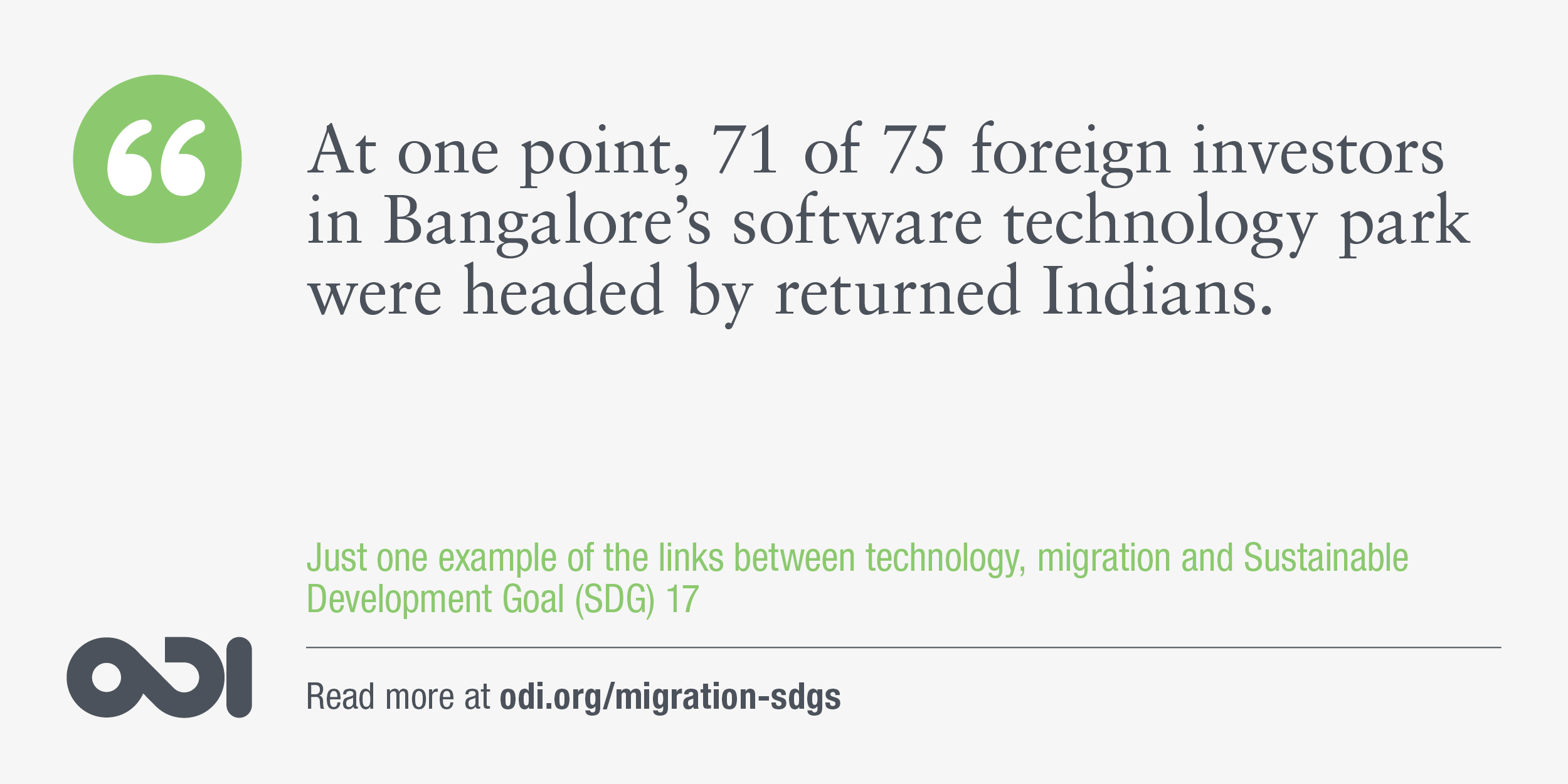 The links between technology, migration and SDG 17.