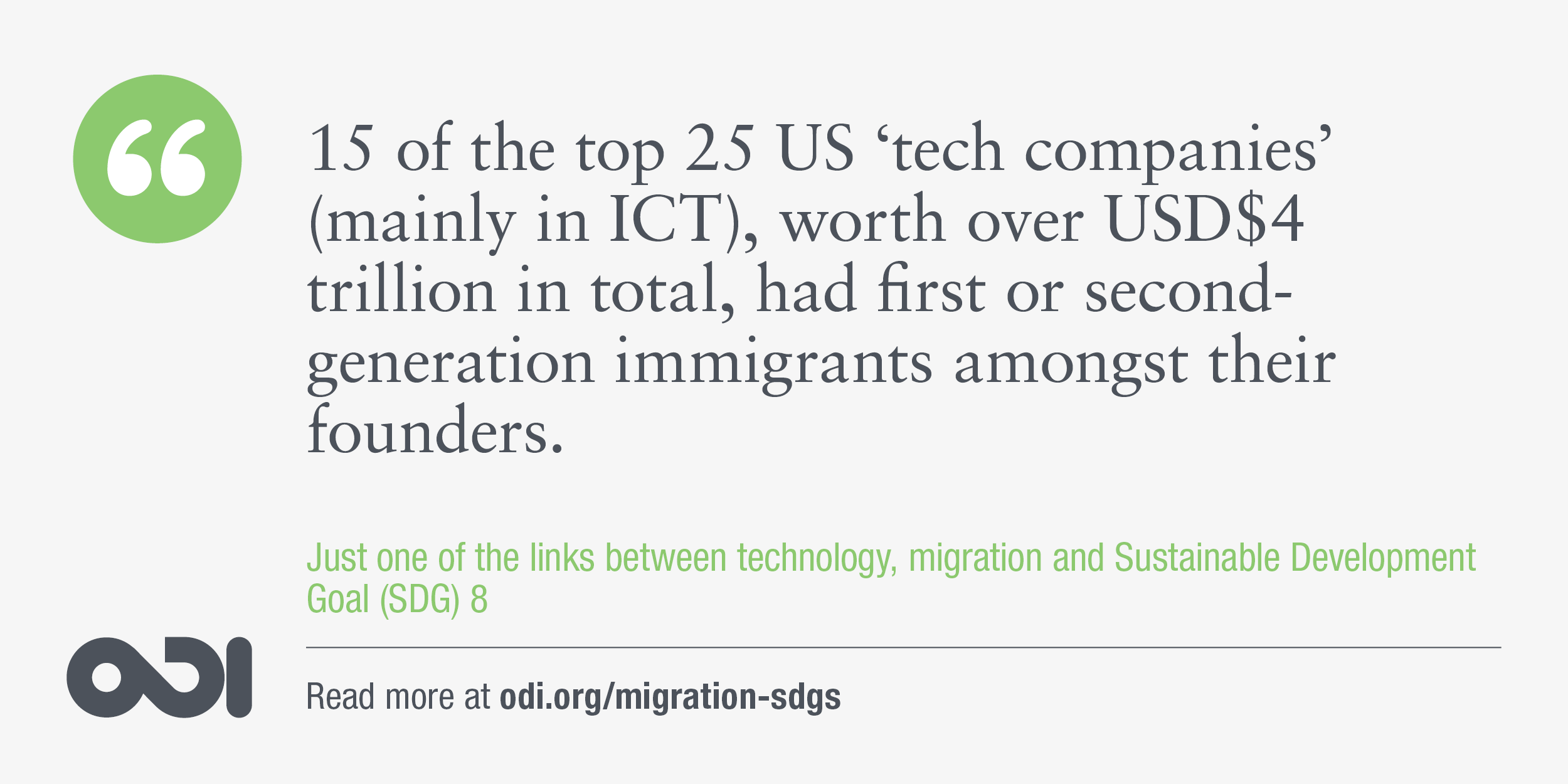 The links between technology, migration and SDG 8.