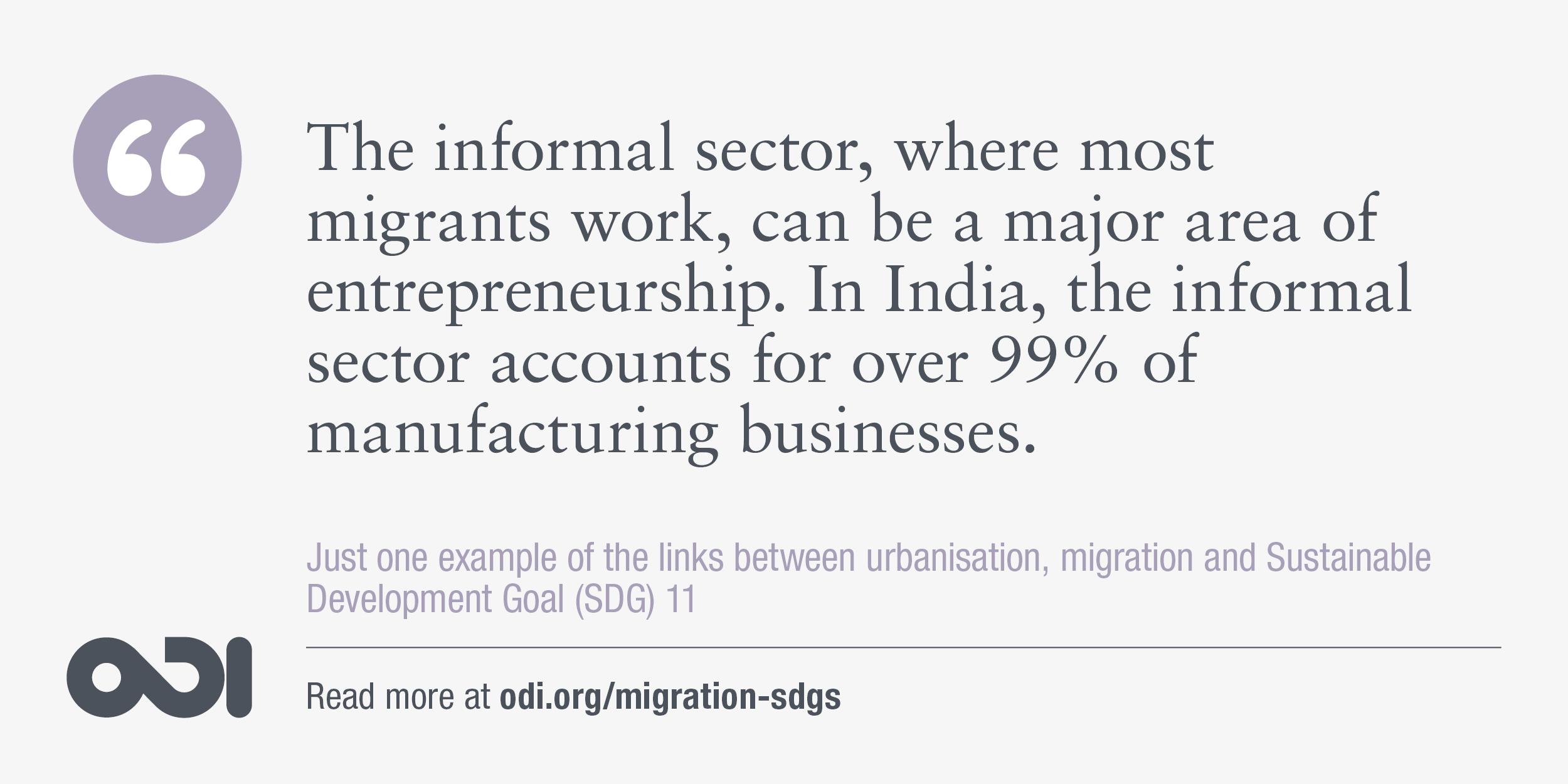 The links between urbanisation, migration and SDG 11.