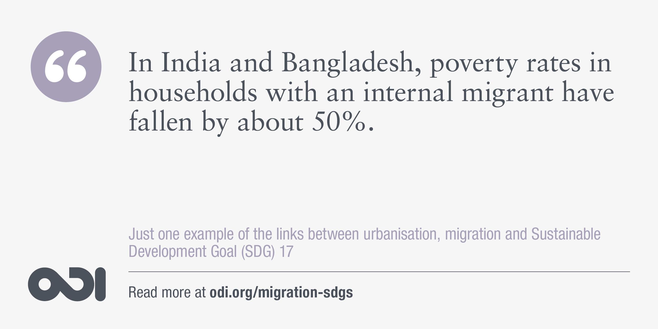 The links between urbanisation, migration and SDG 17.
