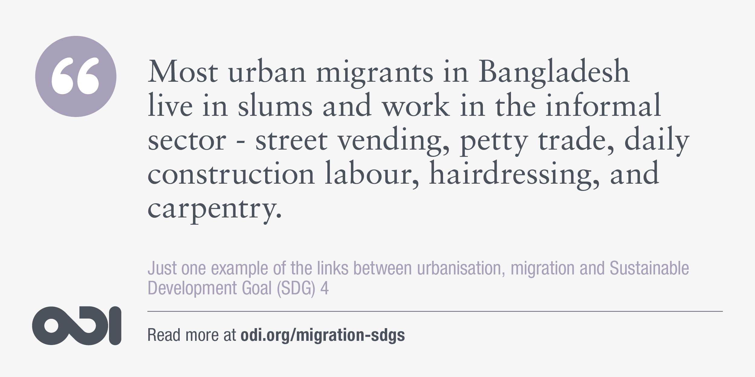 The links between urbanisation, migration and SDG 4.