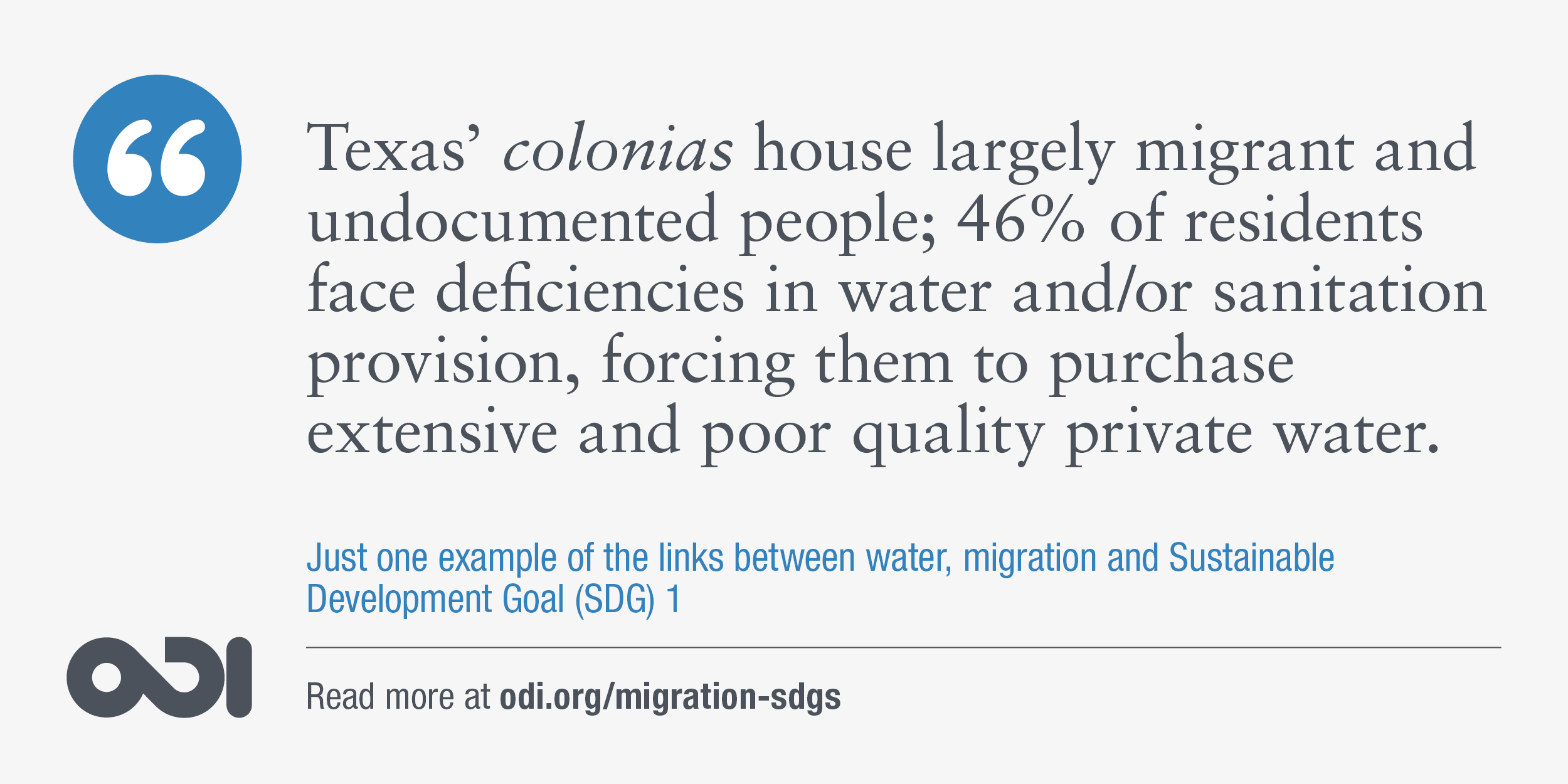 The links between water, migration and SDG 1.