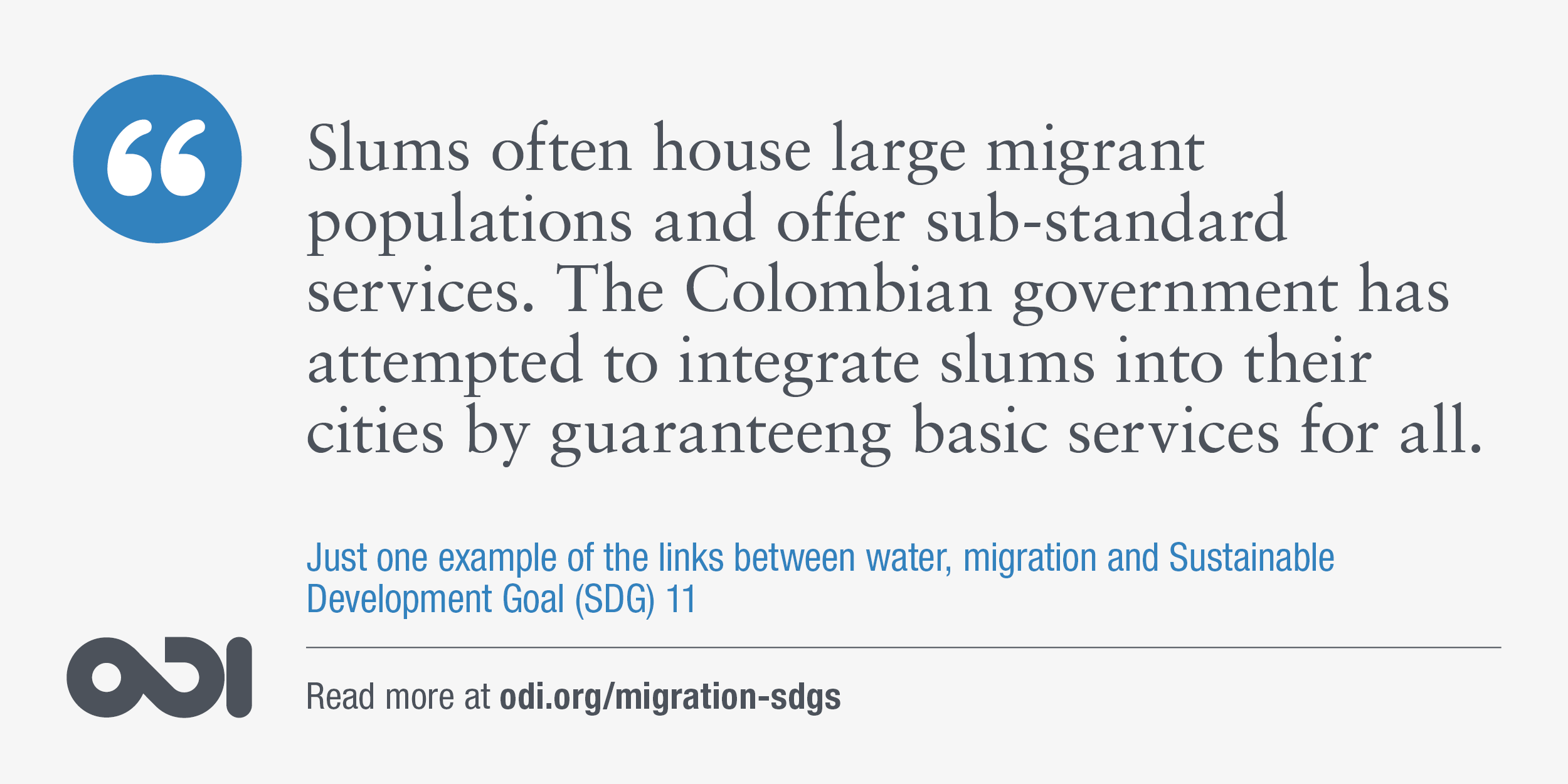 The links between water, migration and SDG 11.