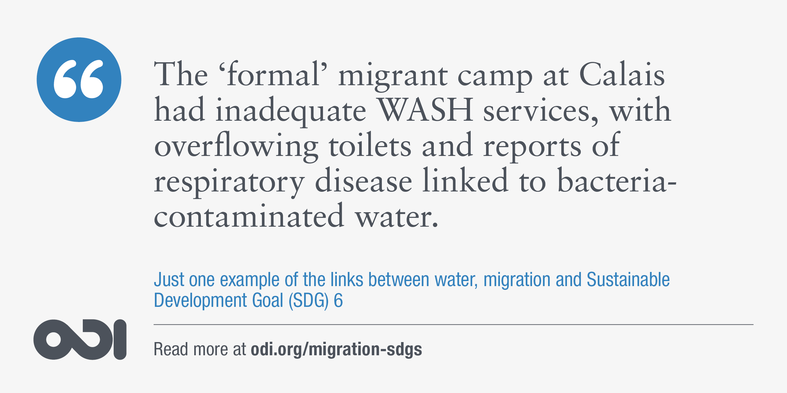 The links between water, migration and SDG 6.
