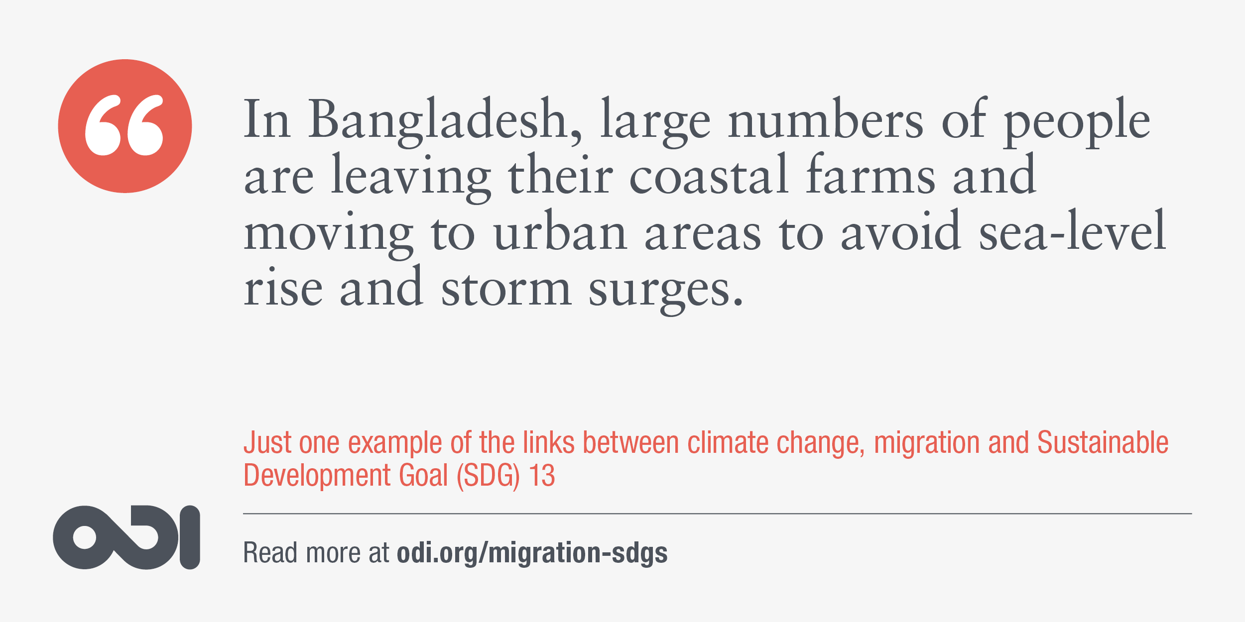 The links between climate change, migration and SDG 13.