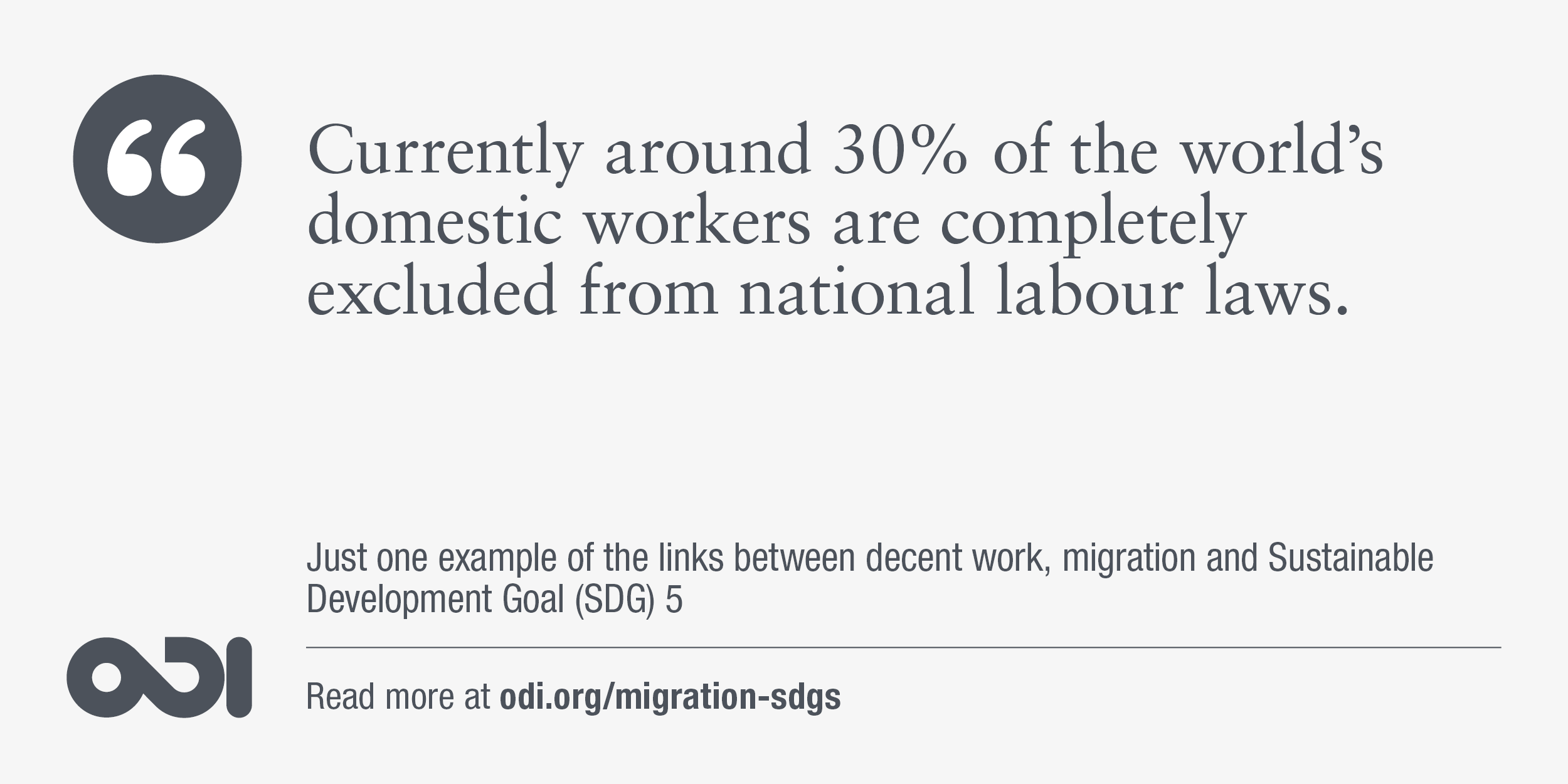 The links between decent work, migration and SDG 5.