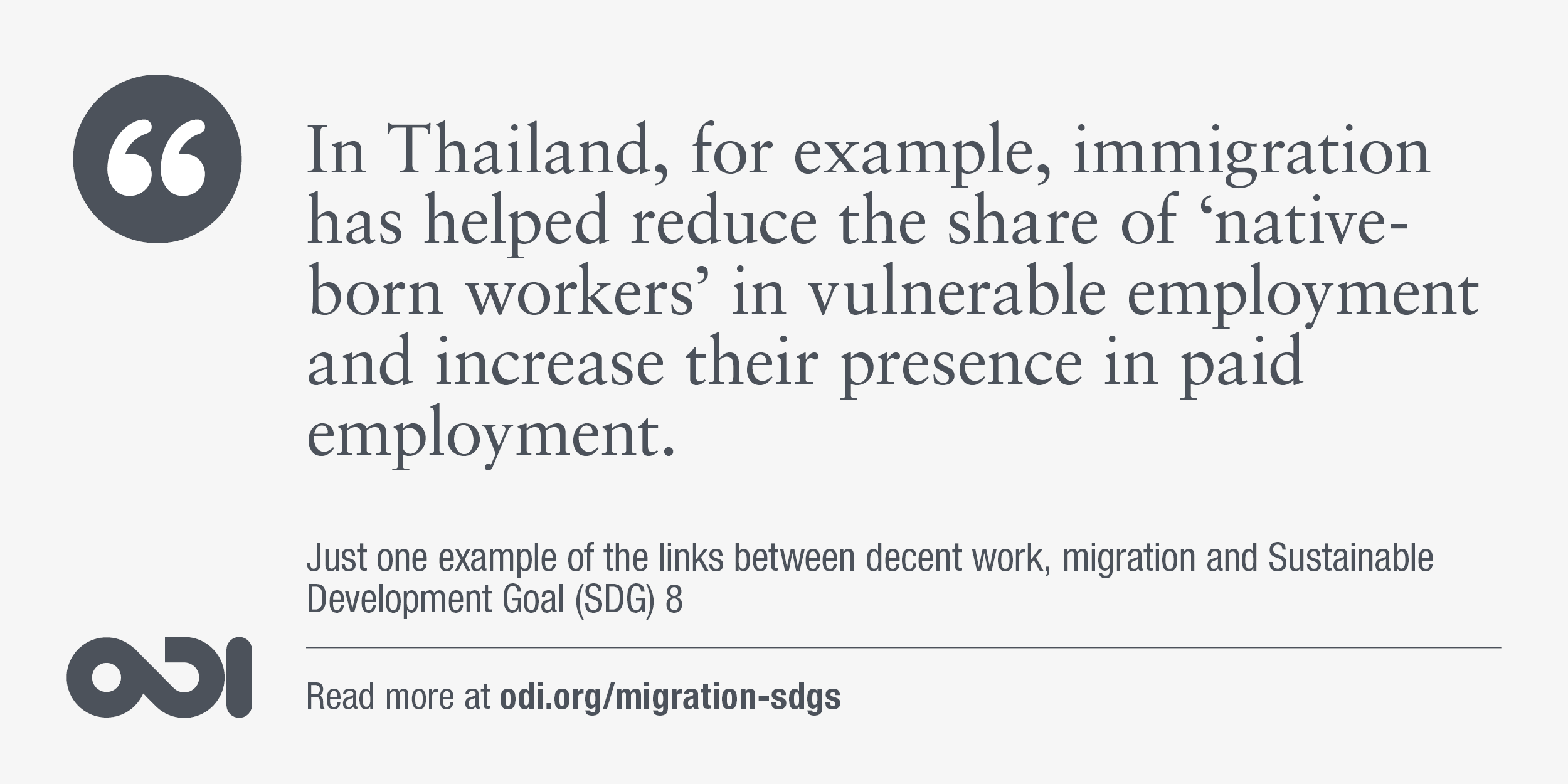 The links between decent work, migration and SDG 8.
