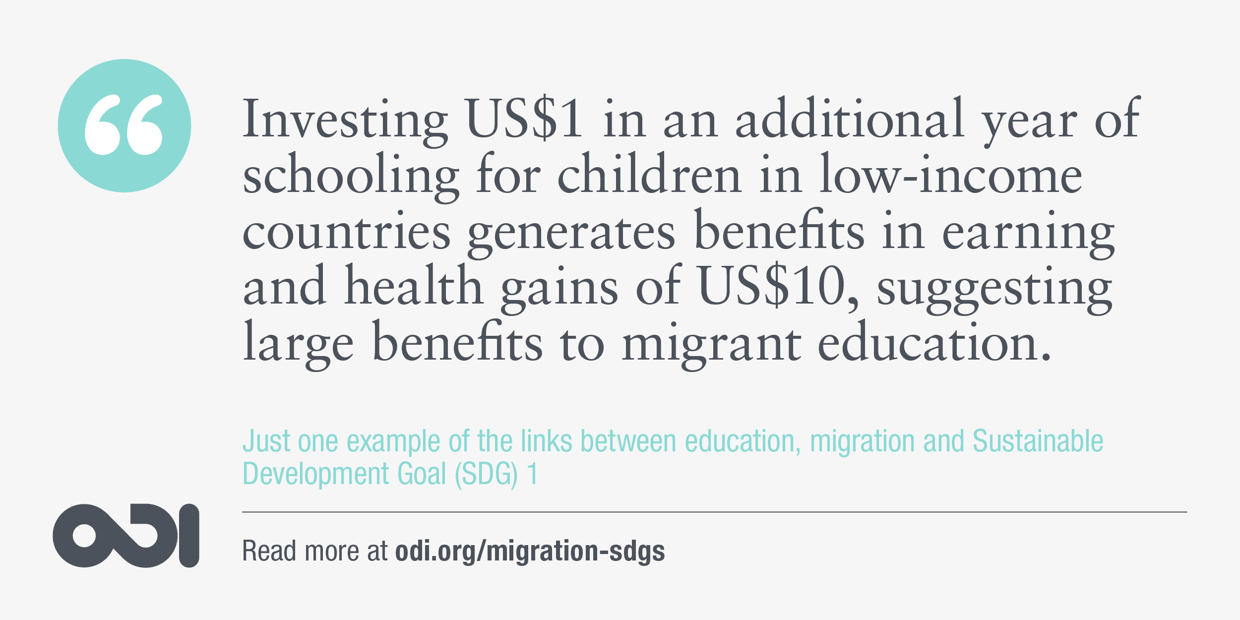 The links between education, migration and SDG 1.