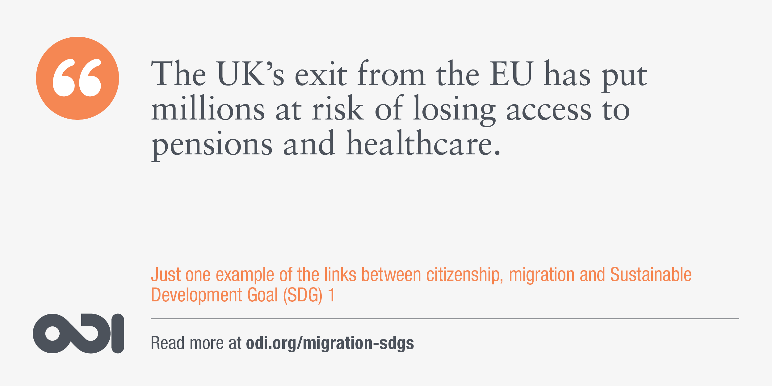 The links between citizenship, migration and SDG 1.