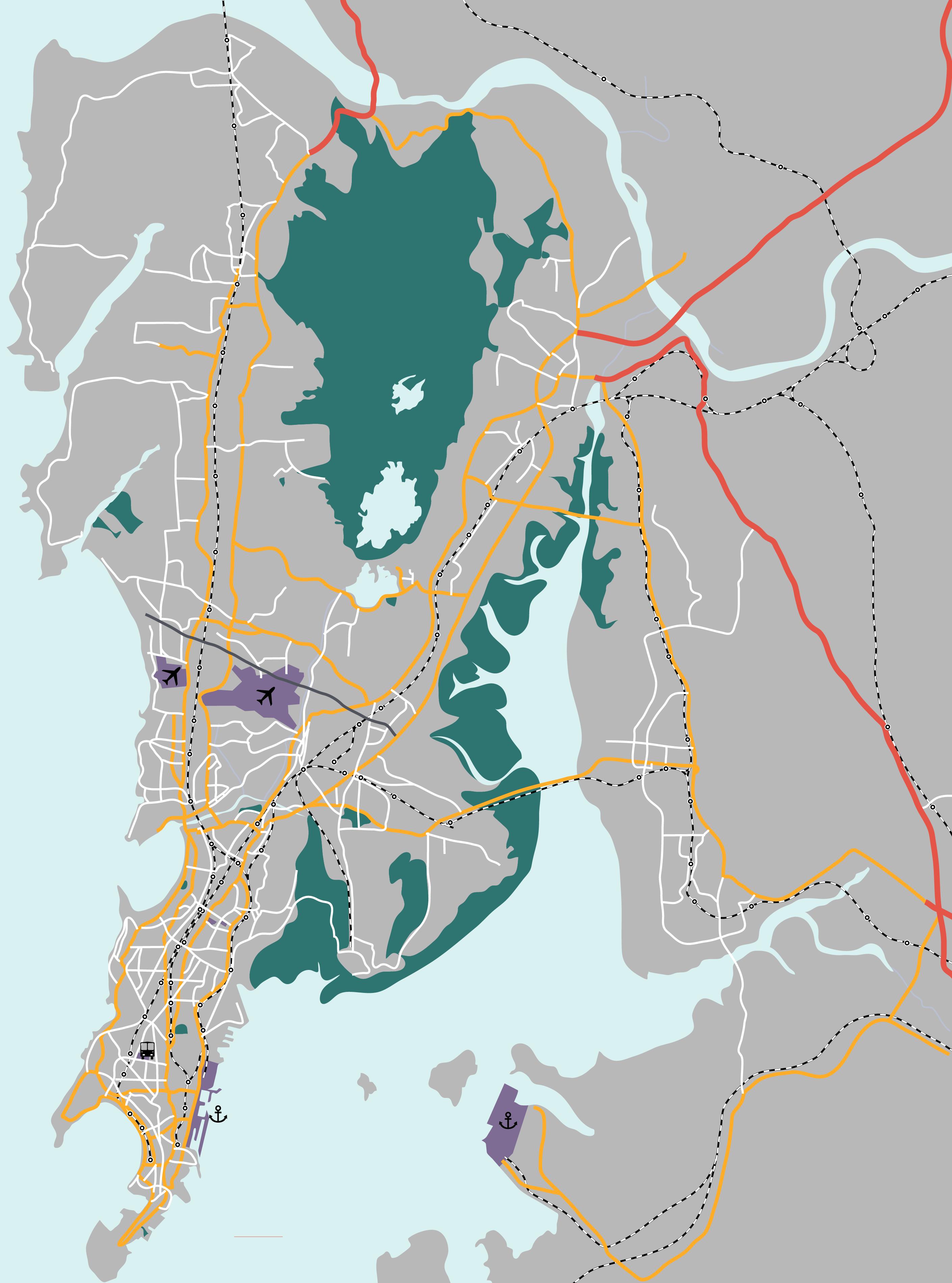 Roads and railways in Mumbai