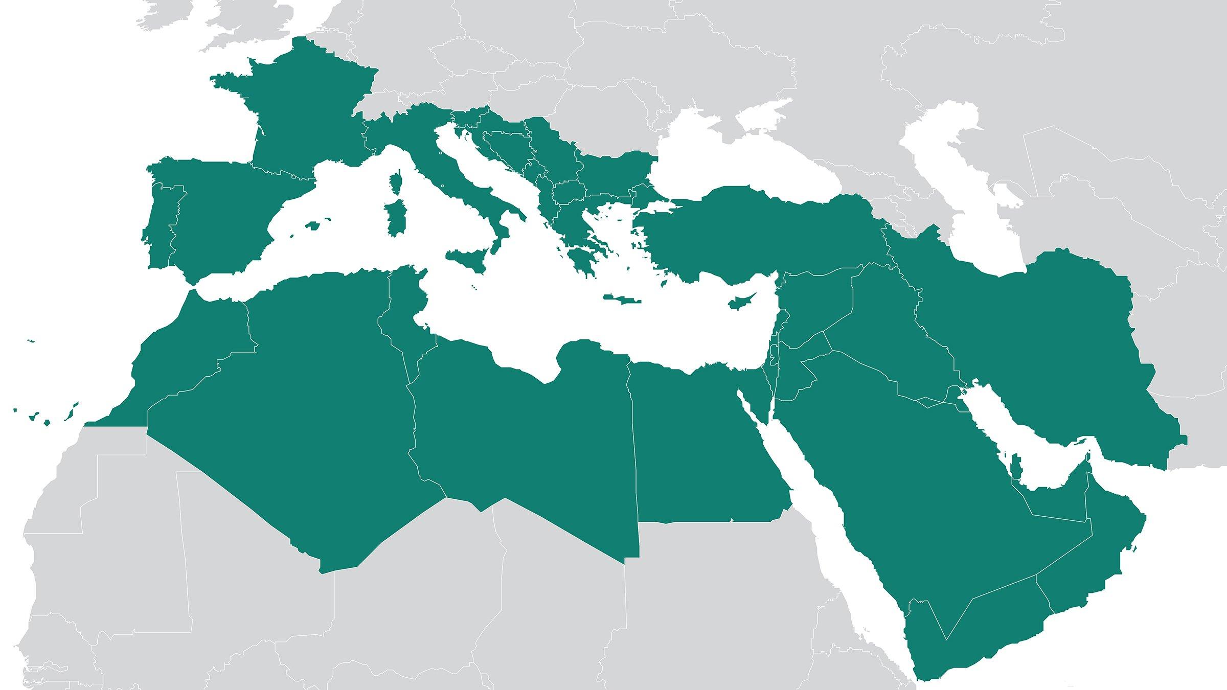 A map of the Mediterranean region. Photo: ODI