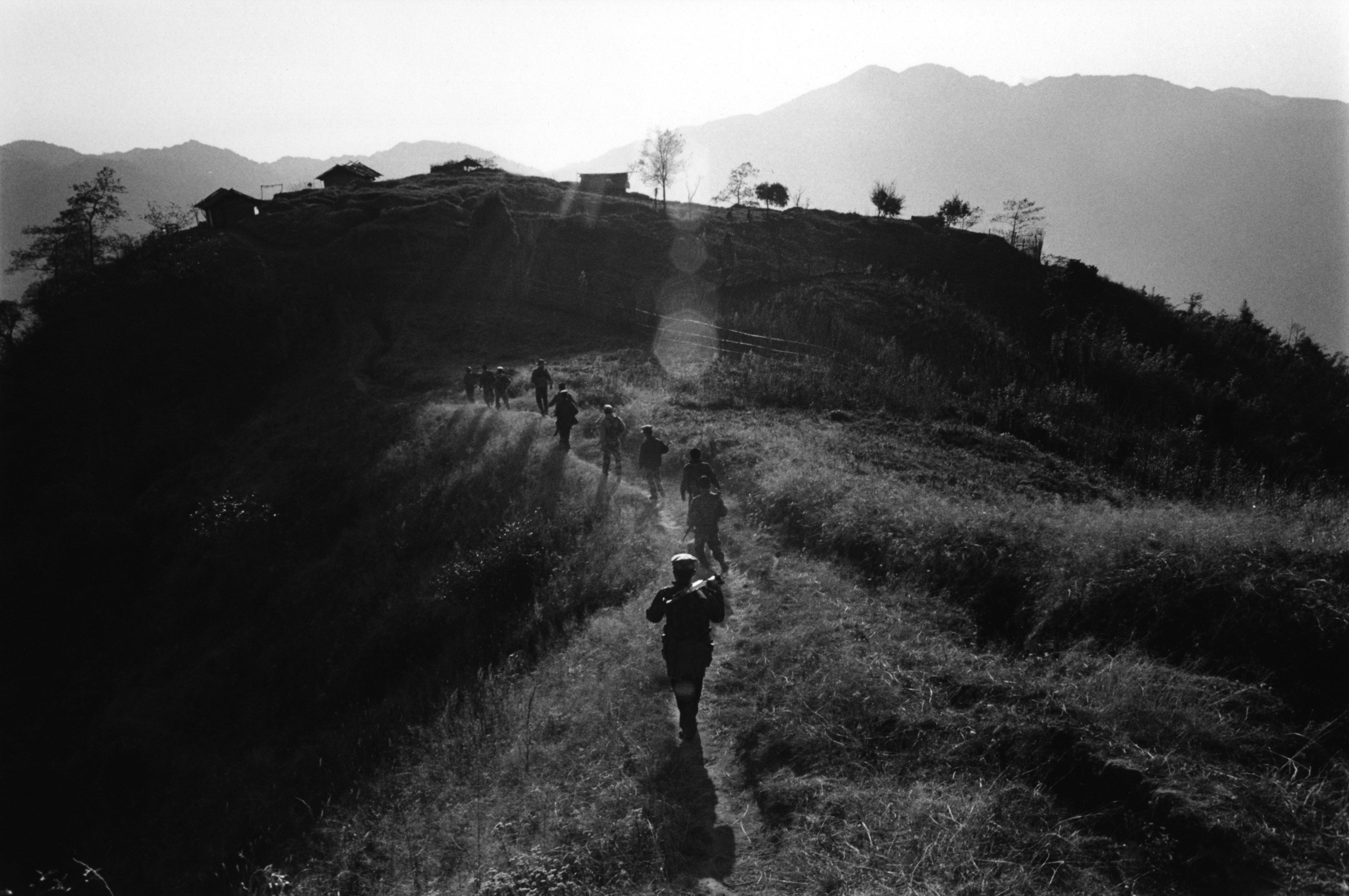 Soldiers of the Kachin Independence Army in Bum Sen, Kachin State, Burma (Myanmar)
