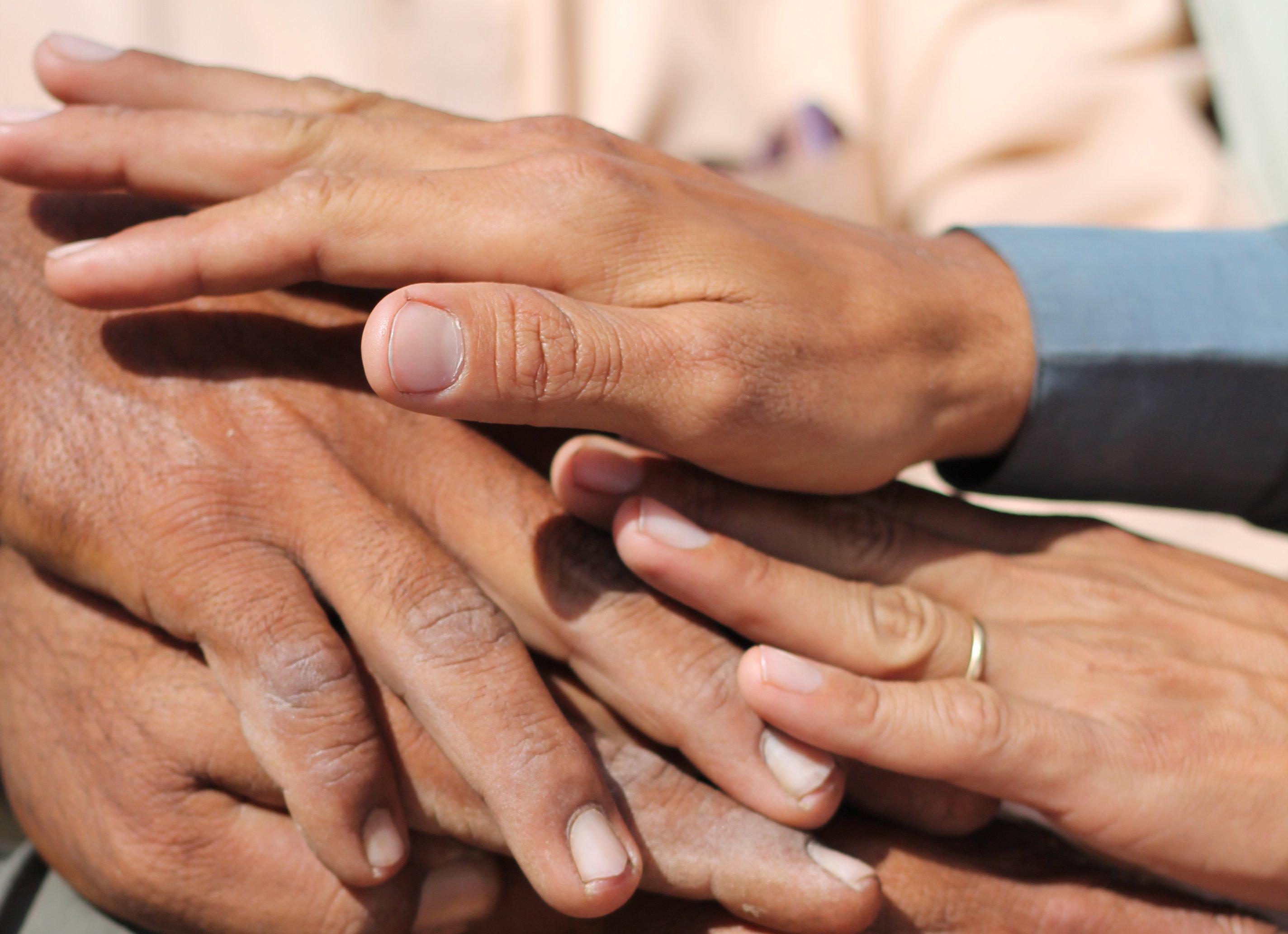 Pakistan hands together, David Walker ODI/2016