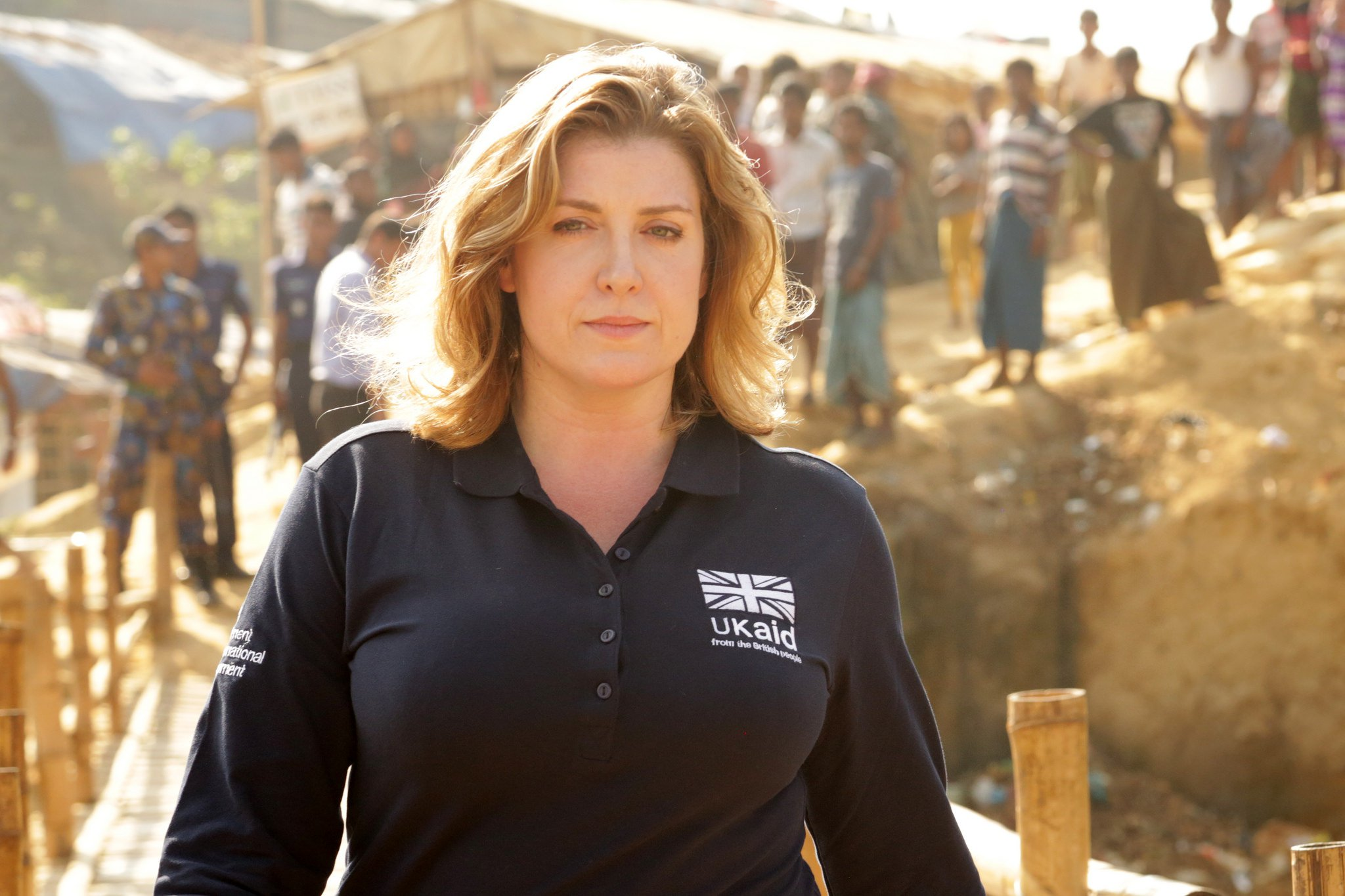 Penny Mordaunt MP, UK Secretary of State for International Development, pictured on a visit to the Kutupalong refugee camp near Cox's Bazar, Bangladesh. Photo: Russell Watkins/DFID (CC-BY-2.0)