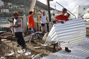 Damage from Hurricane Irma in St Maarten, September 2017. Photo credit: Arie Kievit, IFRC. (CC BY-ND 2.0)