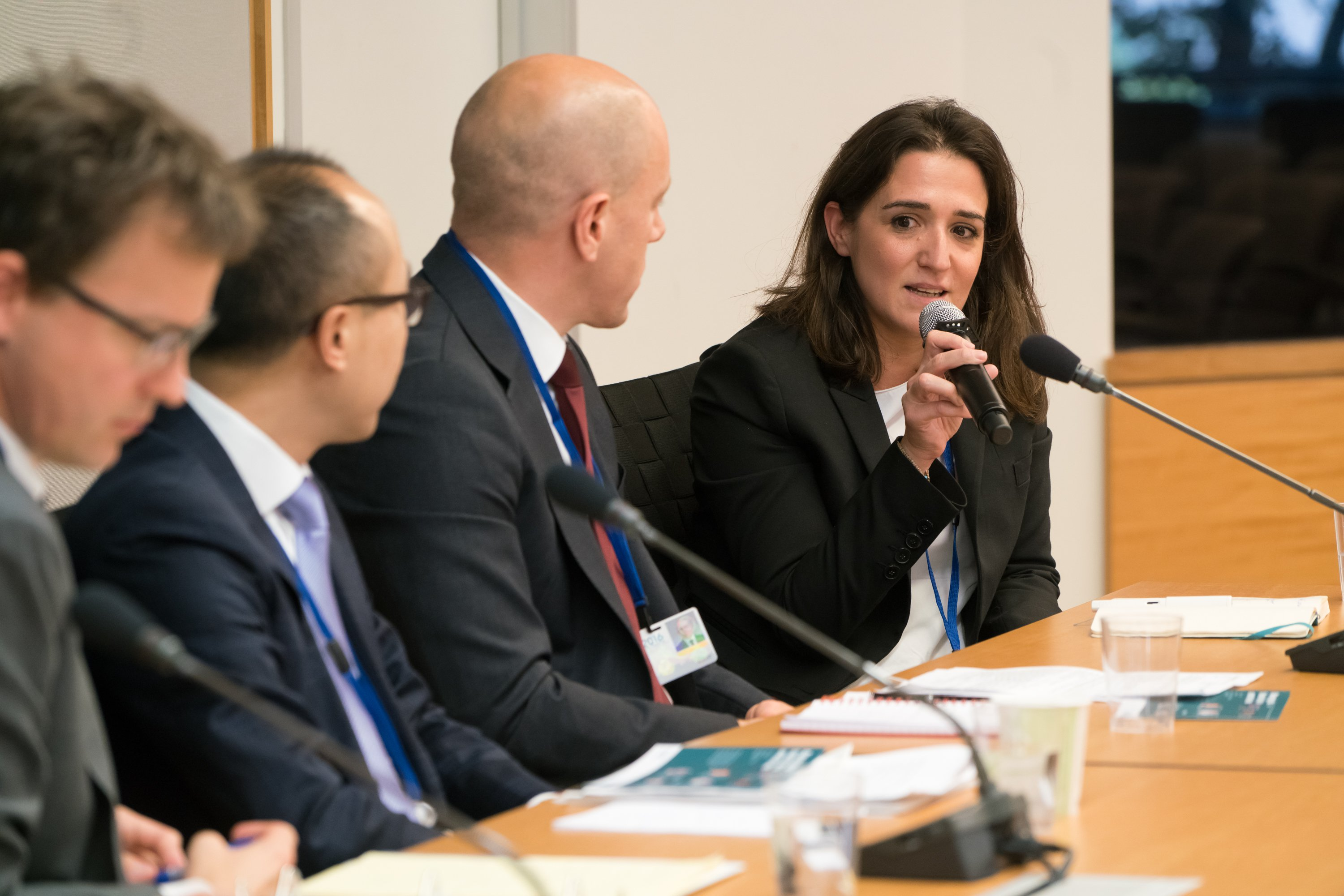 Senior Research Fellow and Team Leader, Phyllis Papadavid, speaking at the Managing global financial risks in uncertain times event