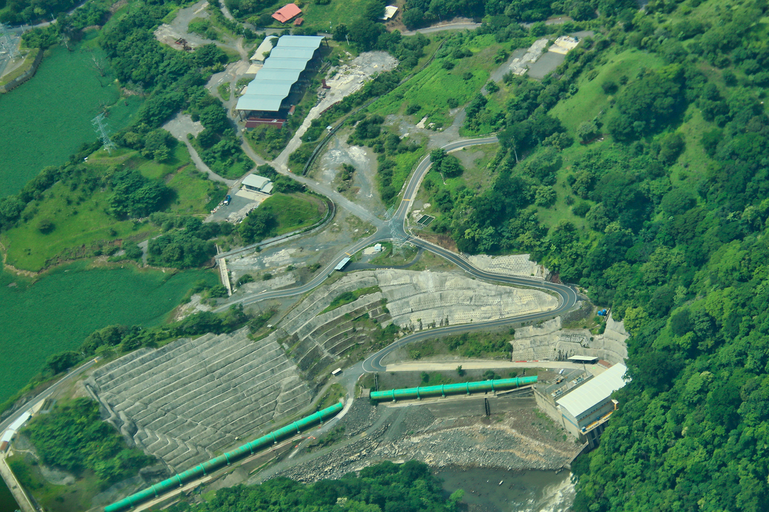 Chucas hydroelectric power plant in Costa Rica.