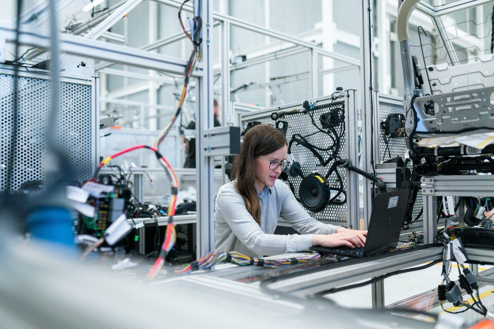 An electronics engineer runs vehicle tests. Photo: ThisIsEngineering (RAEng / Unsplash)