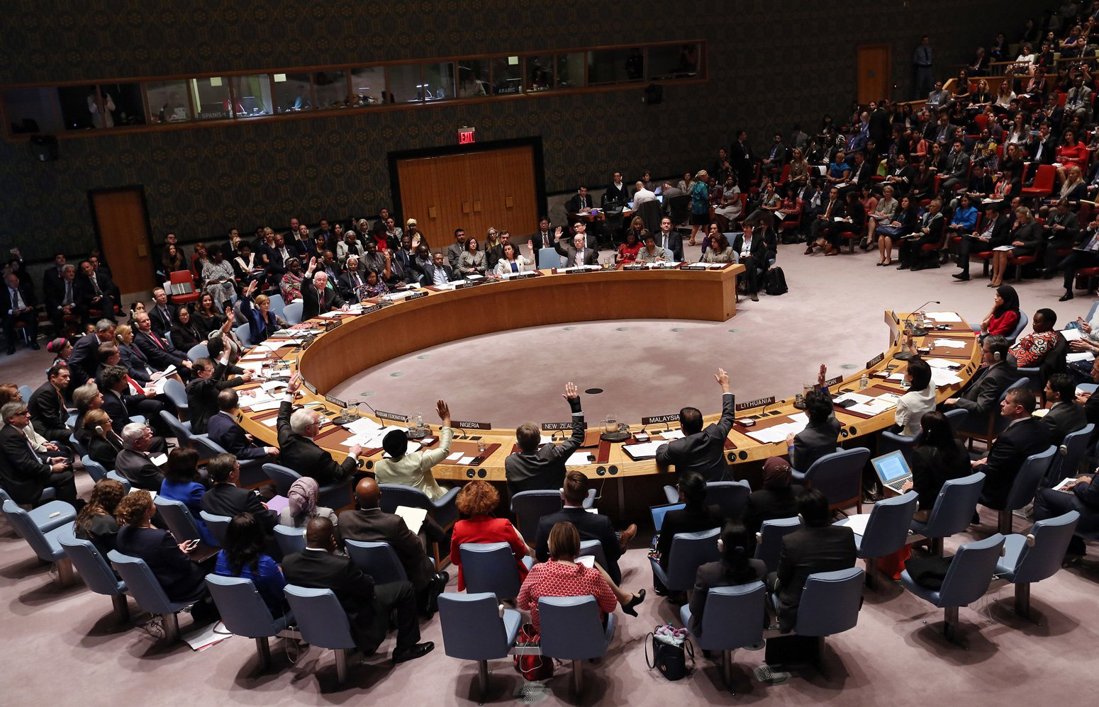 The UN Security Council adopts resolution Resolution 2242 (2015)