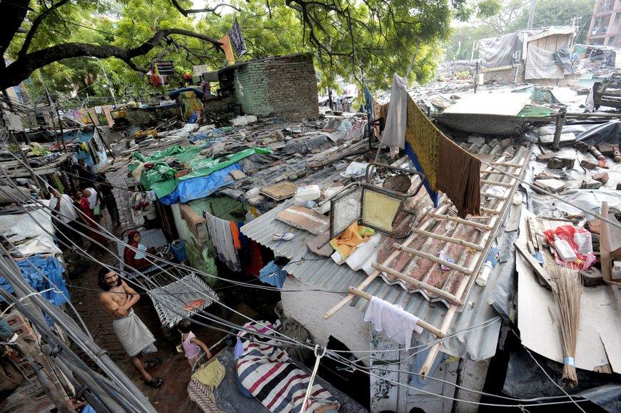 A slum in Kali Bari Marg, New Delhi, India, 2009. Photo: DFID/Nick Cunard, CC BY-NC-ND 2.0