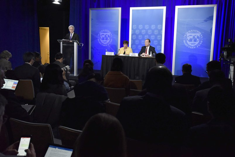 World Bank and IMF coronavirus press conference, 2020. Photo: WB, CC BY-NC-ND 2.