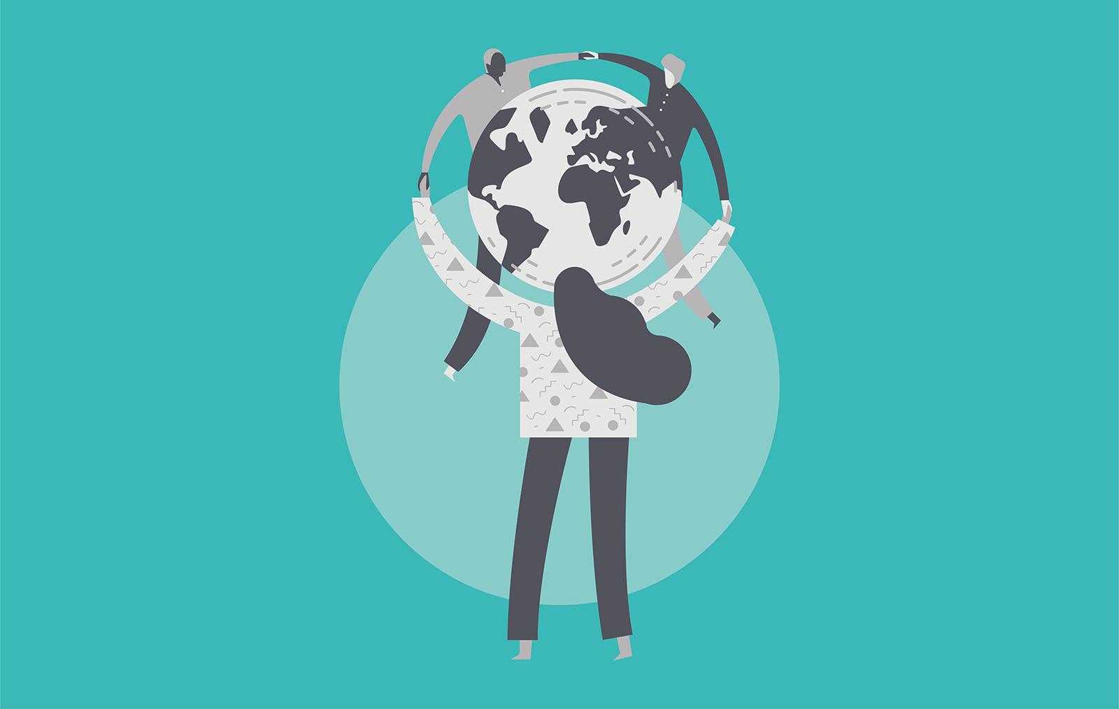 Illustration of global cooperation
