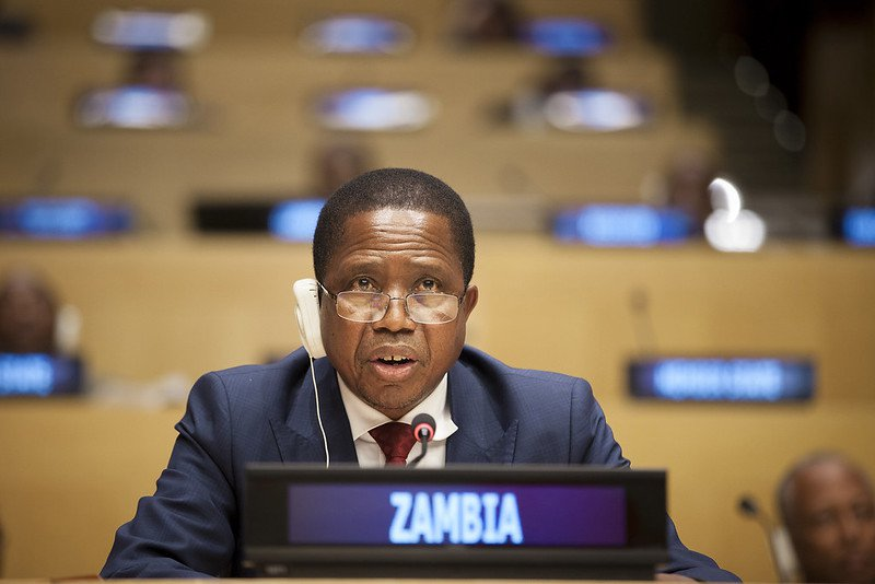 President of Zambia Edgar Chagwa Lungu at the UN in 2017. Photo: UN Photo/Ariana Lindquist CC BY-NC-ND 2.0